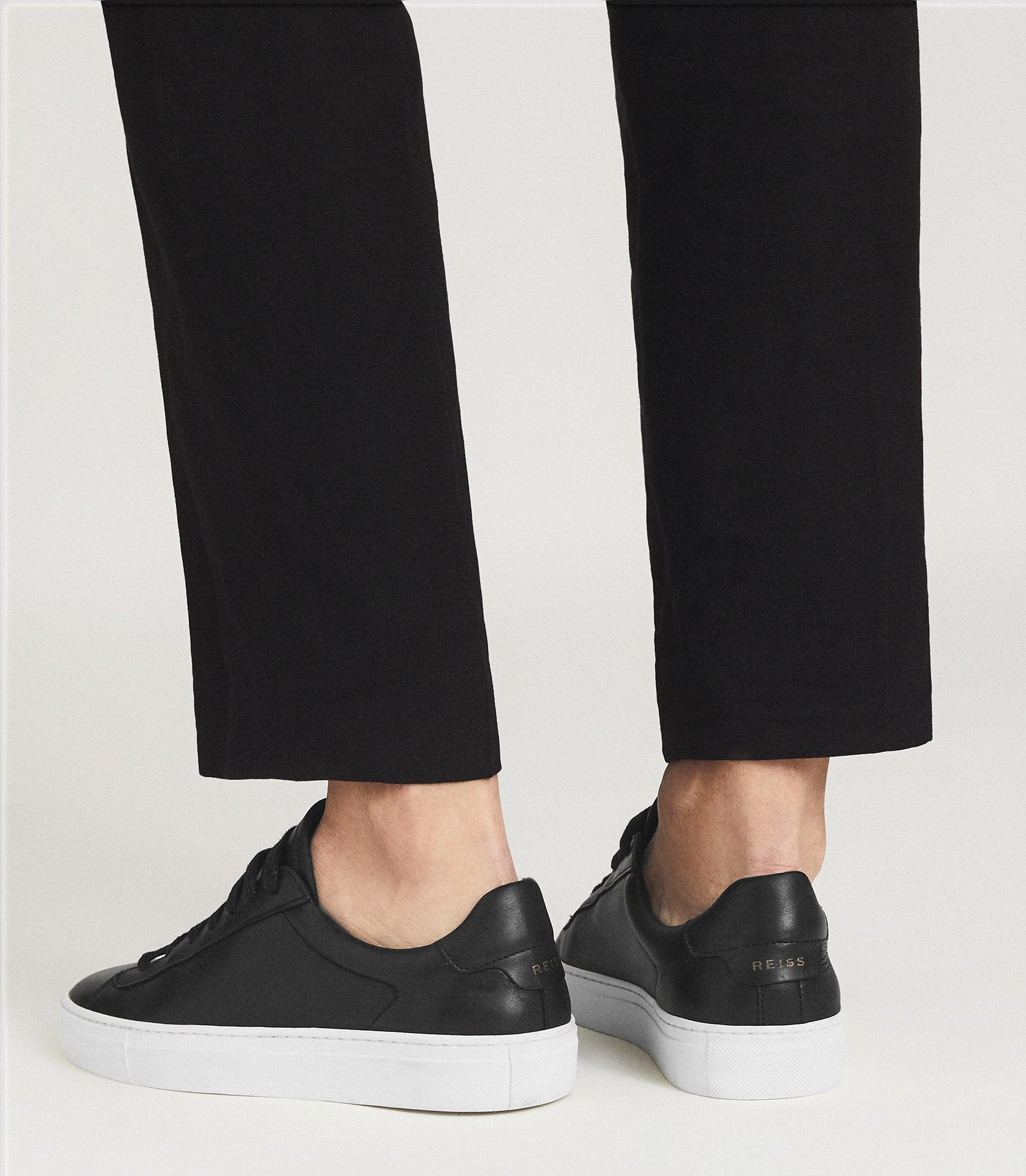 FINLEY - LEATHER CONTRAST SOLE TRAINERS 6