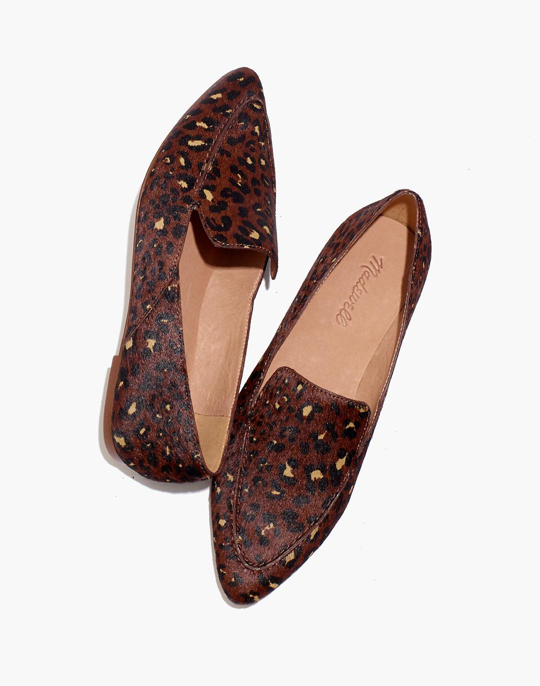 The Frances Skimmer in Painted Leopard Calf Hair