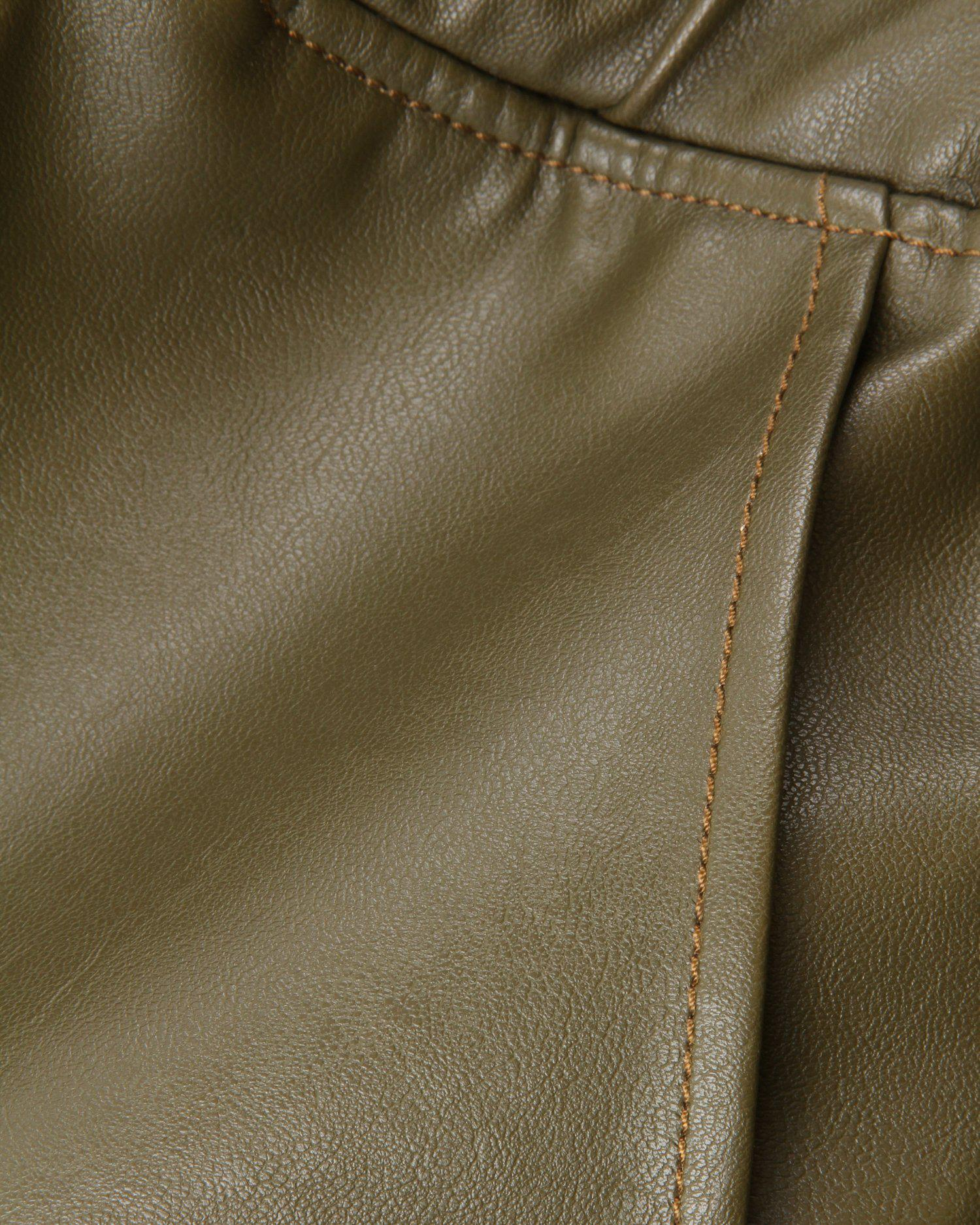 Noemi Trousers Faux Leather Green 3