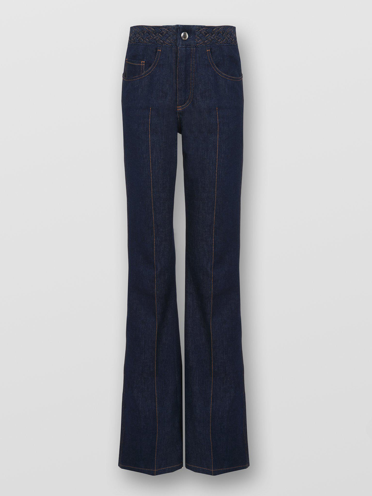 BRAIDED FLARE JEANS