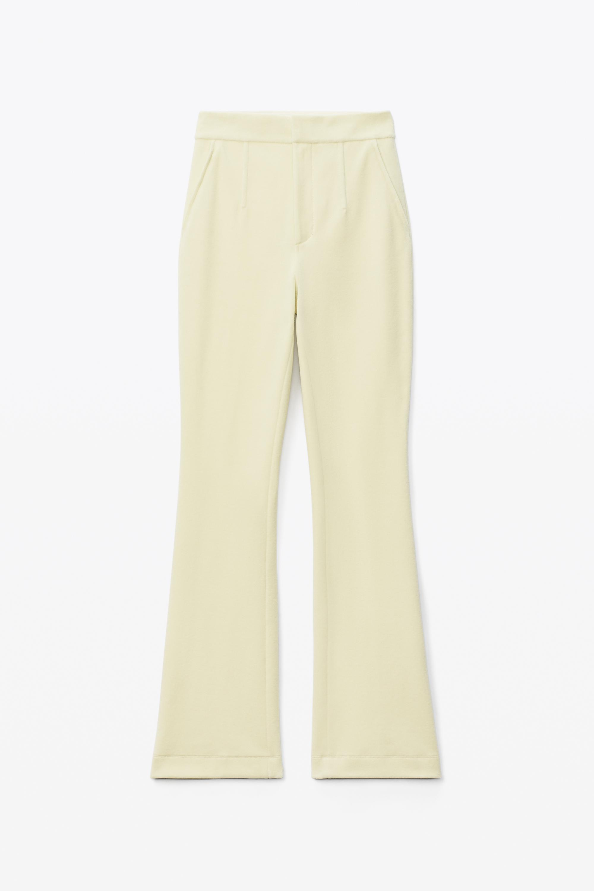 stacked pant in velour tailoring 1