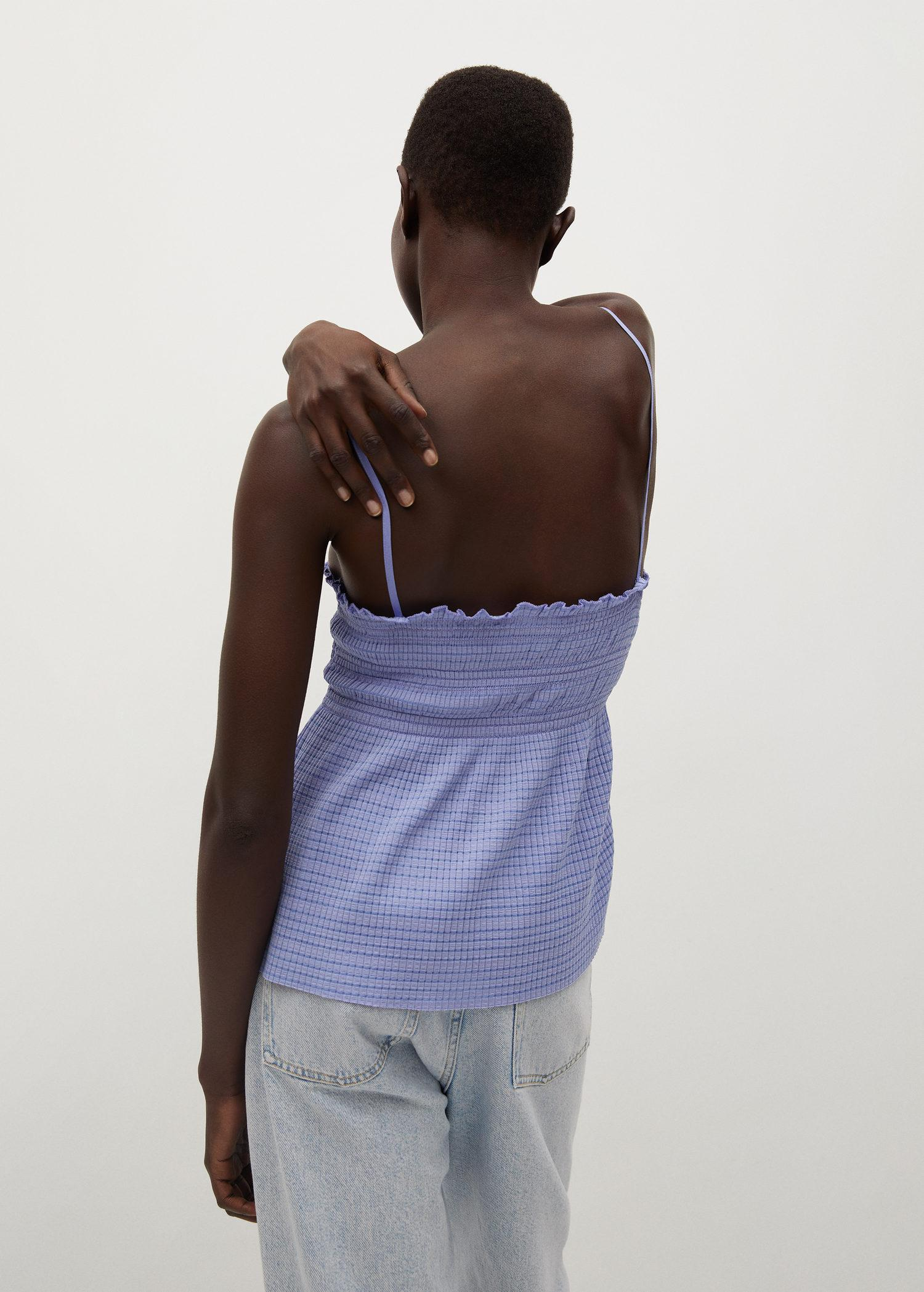 Pleated strap top 2