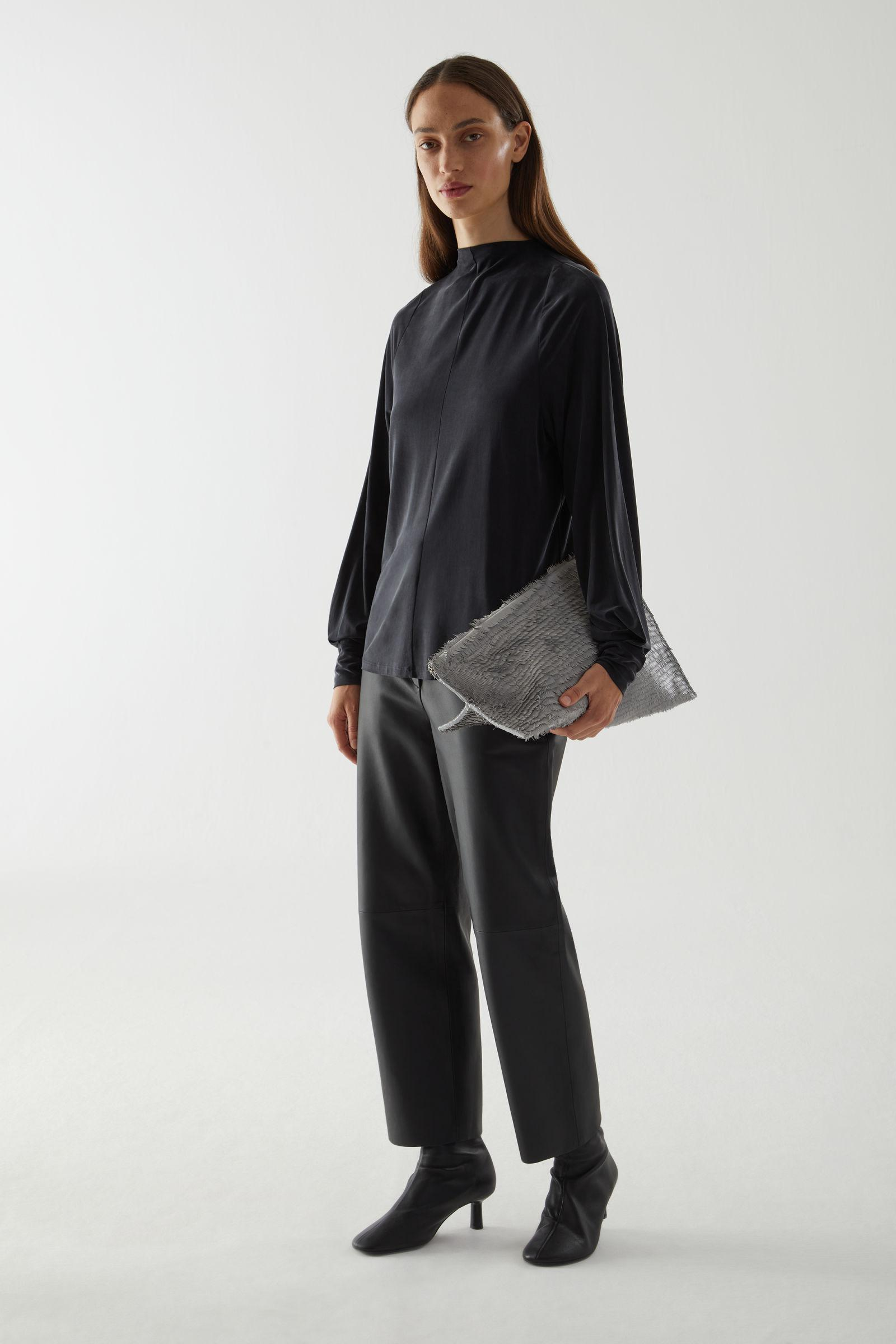 CUPRO LONG-SLEEVED TOP 1