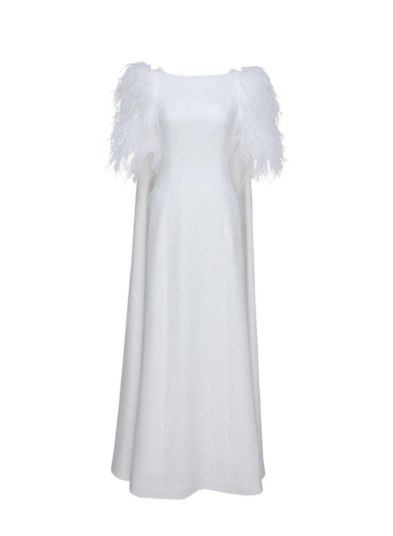 HORTENSE GOWN PURE WHITE CREPE 4