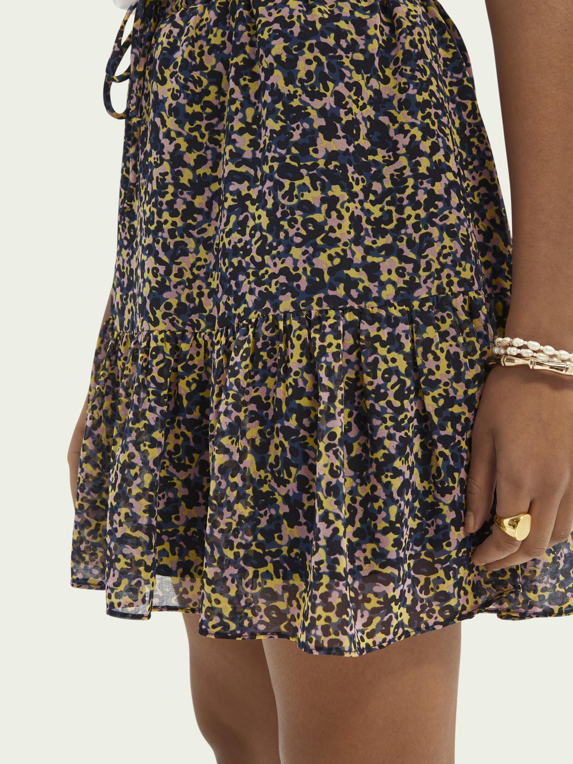 Printed recycled polyester-blend skirt 4