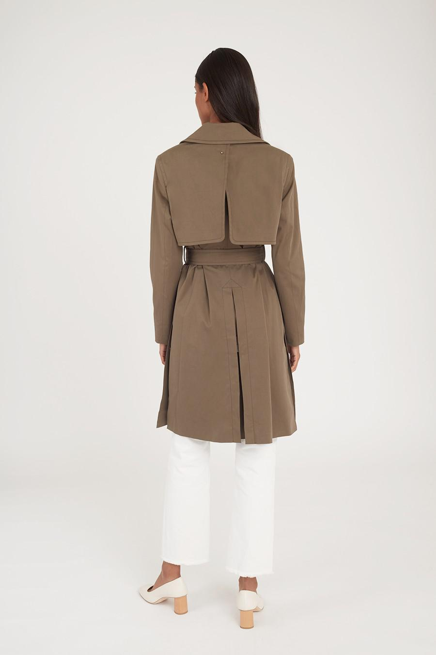 Women's Classic Trench in Olive | Size: 4