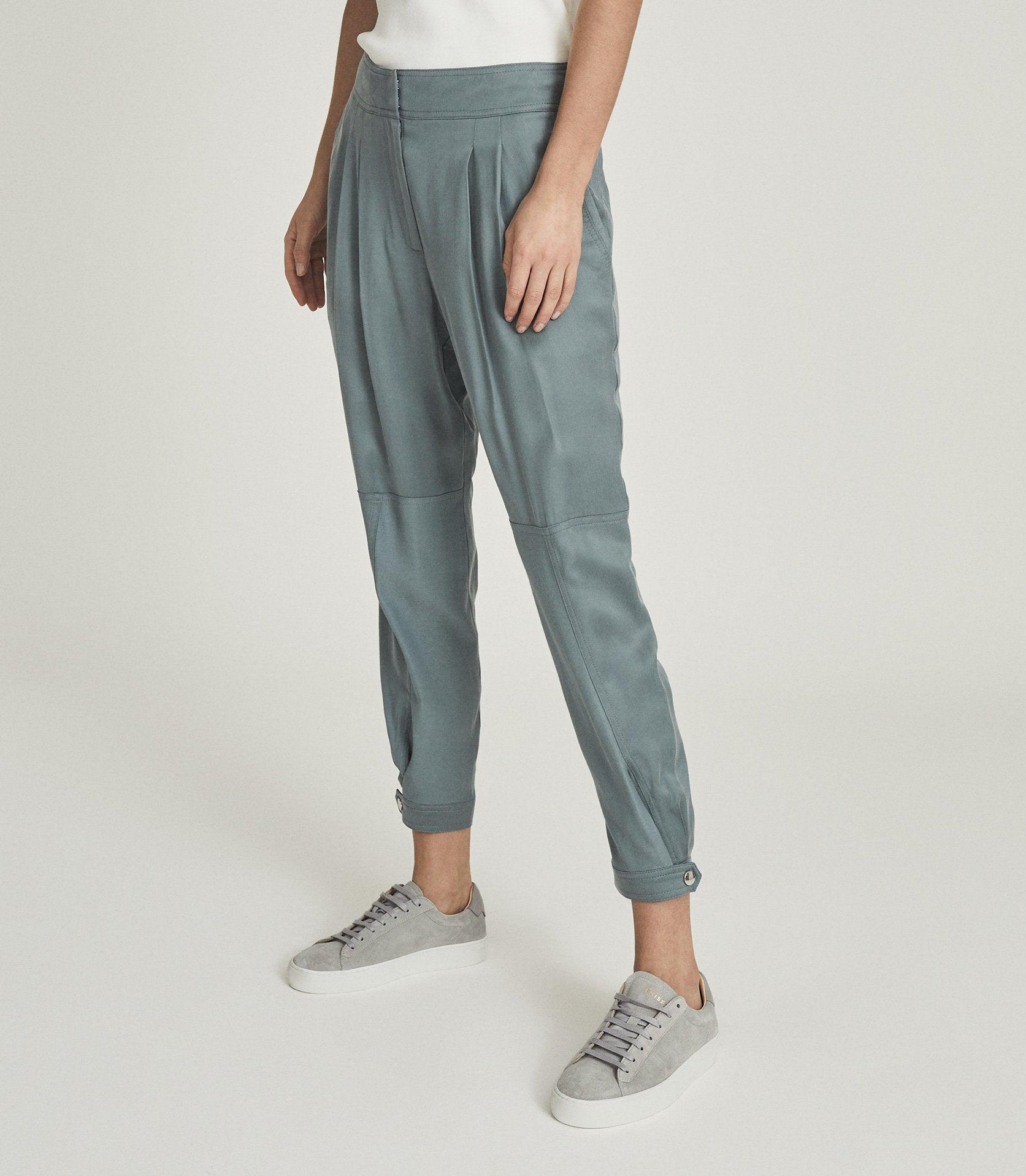 MARLOW - PLEAT FRONT TAPERED PANTS 1