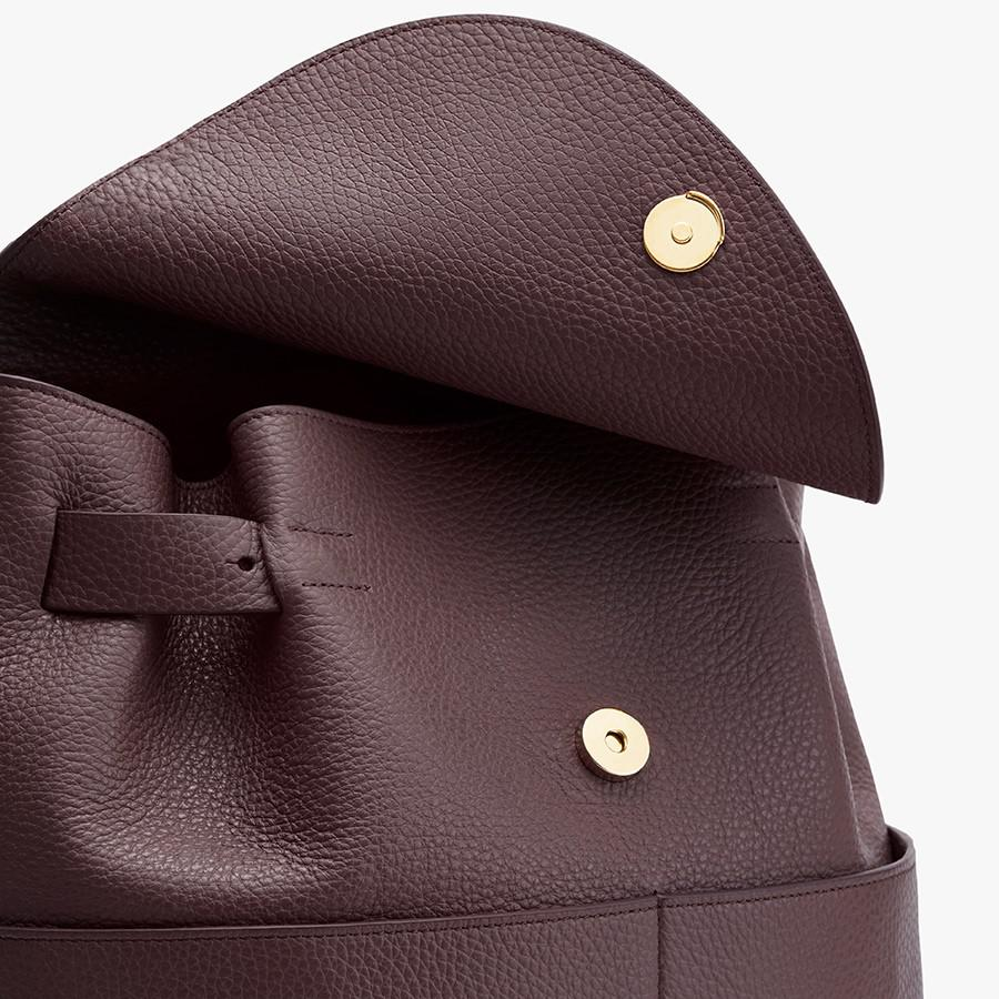 Women's Leather Backpack in Burgundy   Pebbled Leather by Cuyana 2