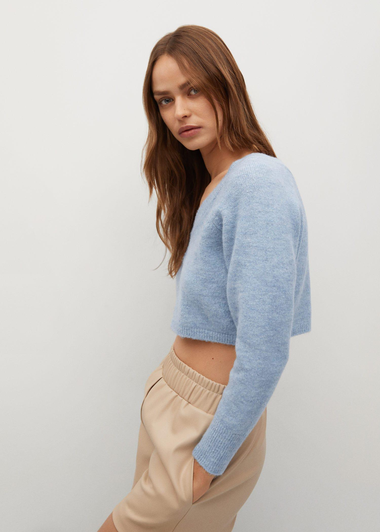 Knitted cropped cardigan 4