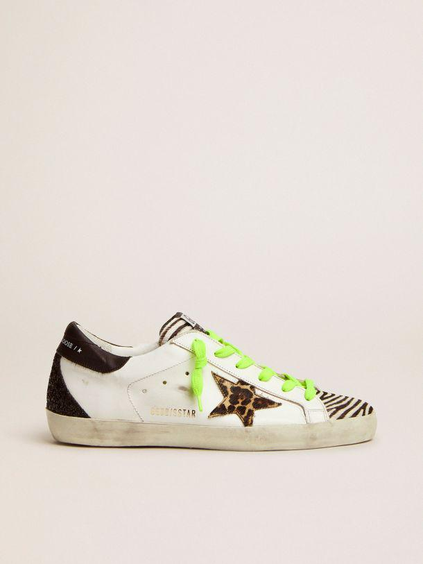 Super-Star LTD sneakers with animal-print pony skin tongue and star