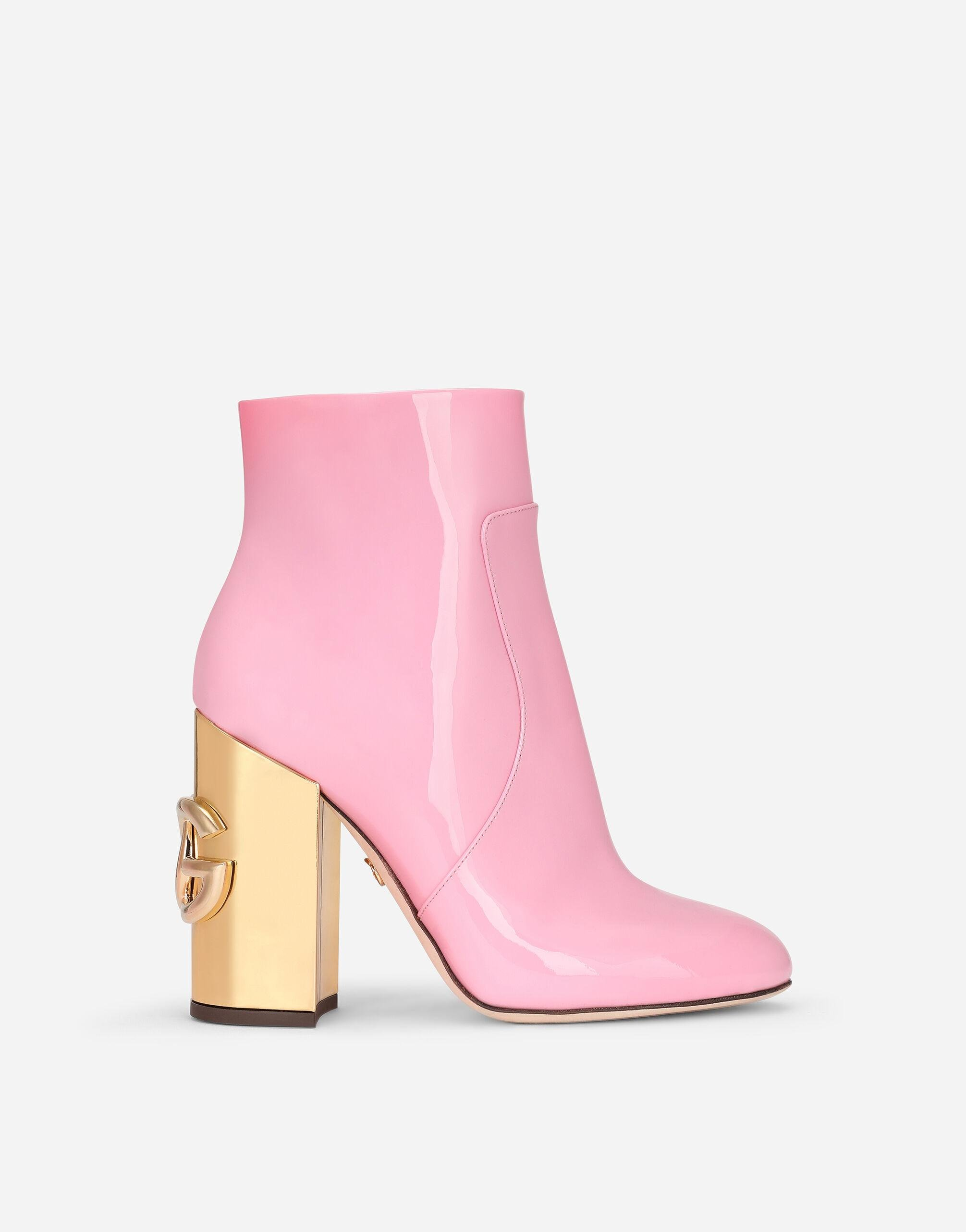 Patent leather ankle boots with DG Karol heel