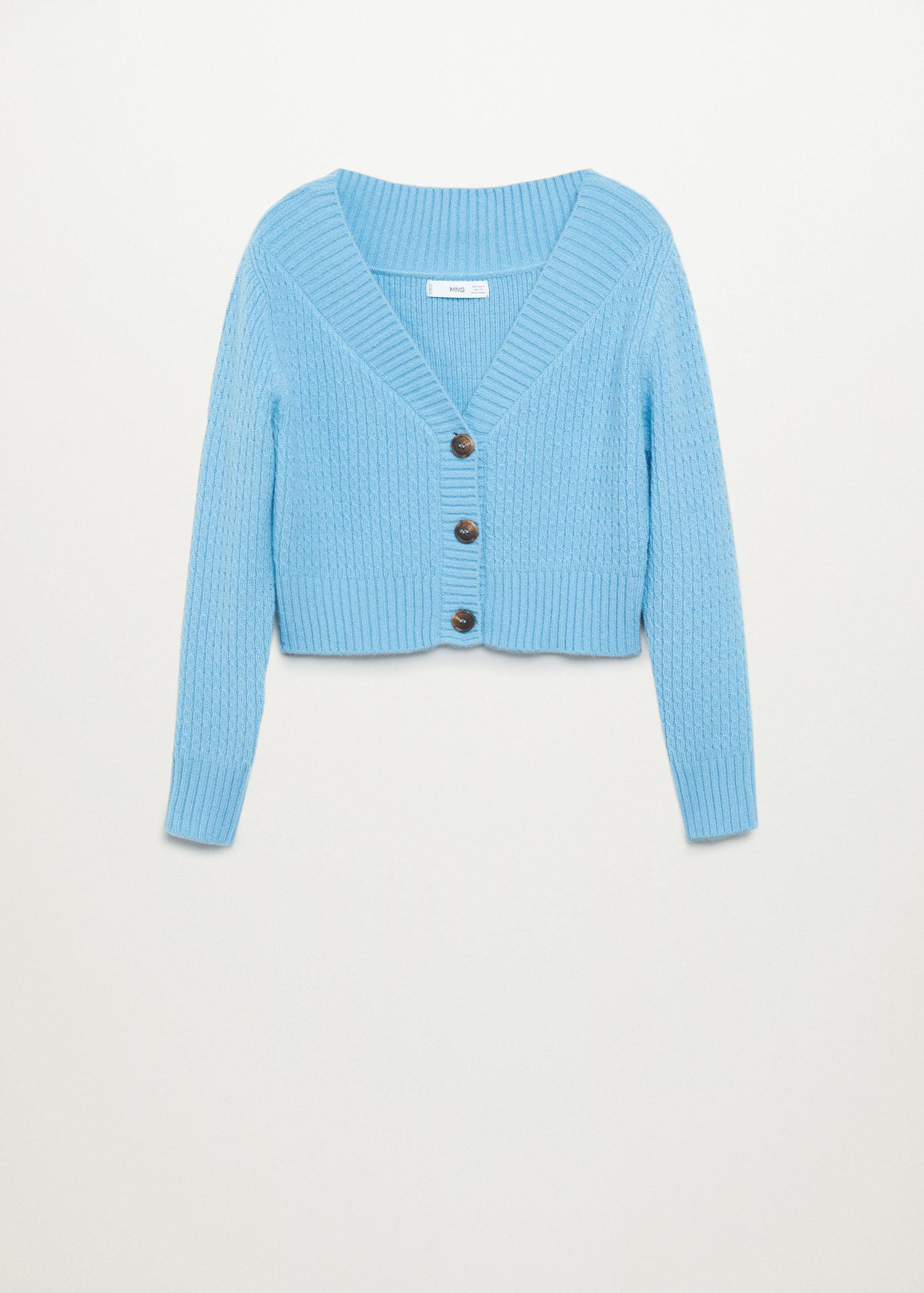 Cropped cardigan with buttons 7