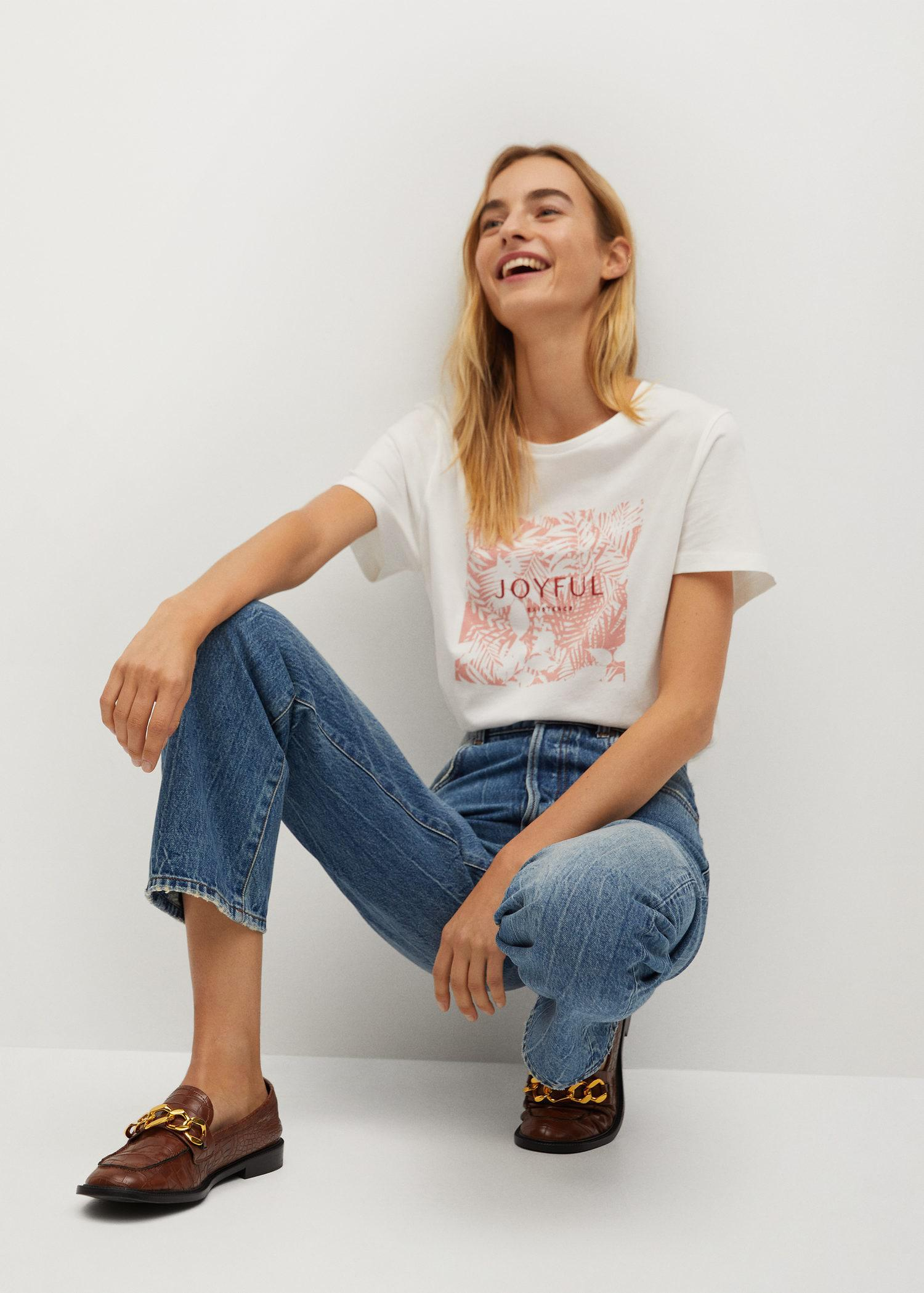 Embroidered printed T-shirt 4