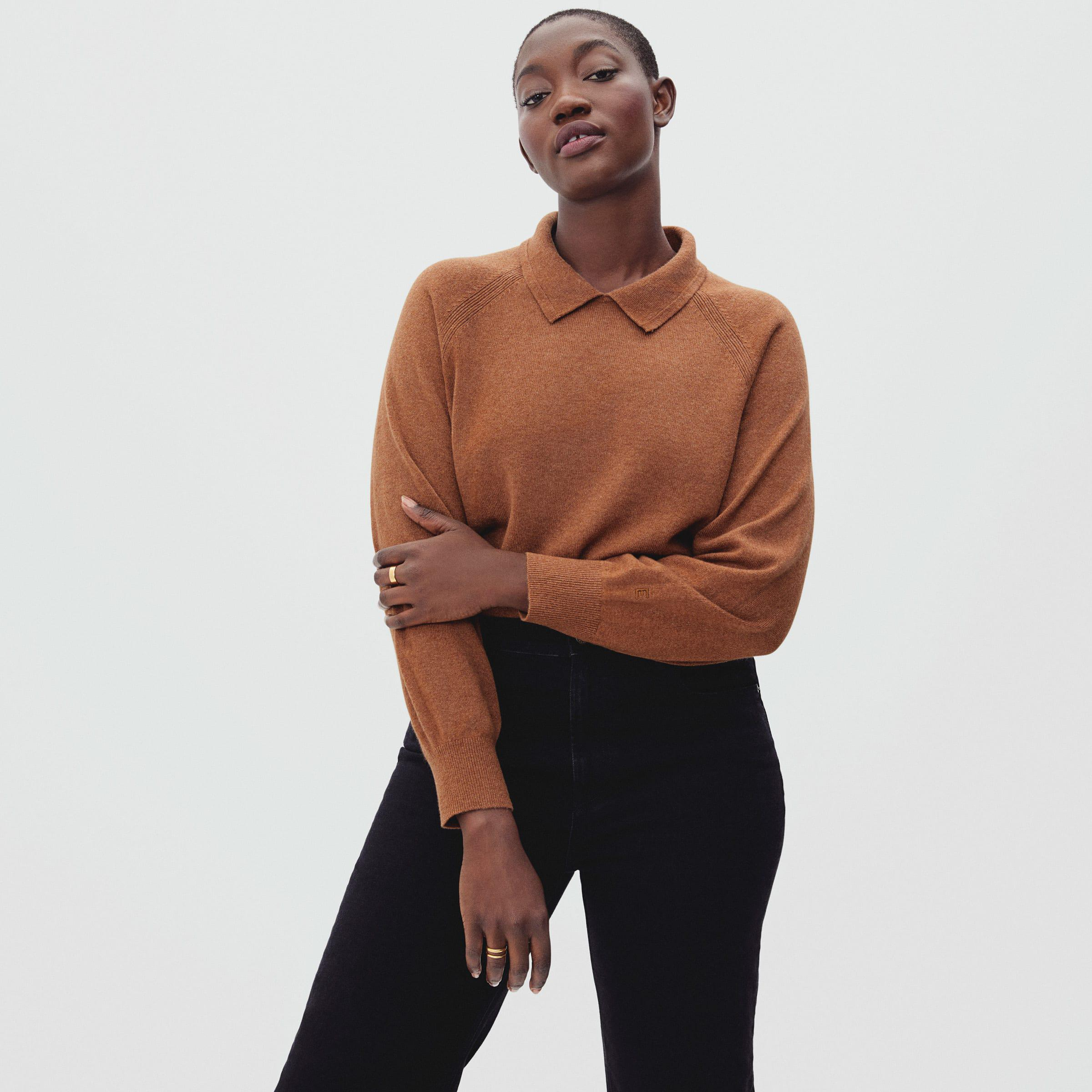 The Cashmere Collared Sweater