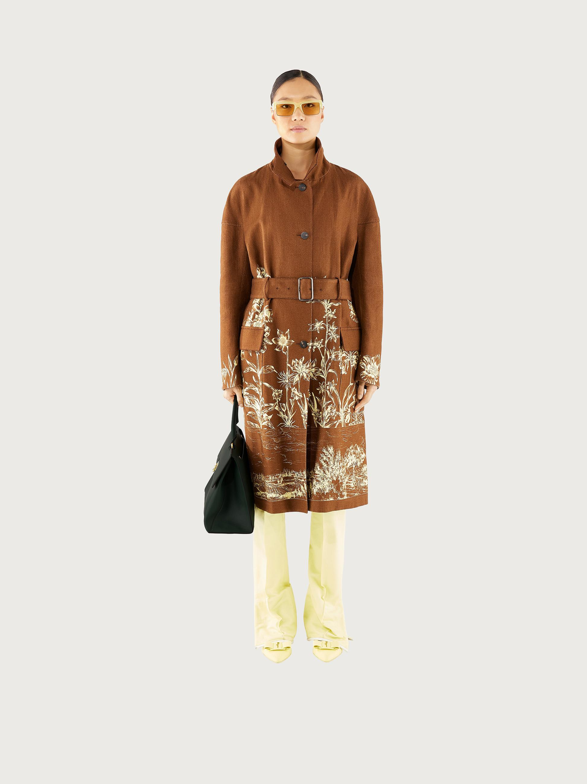 PRINTED COTTON TRENCH 1