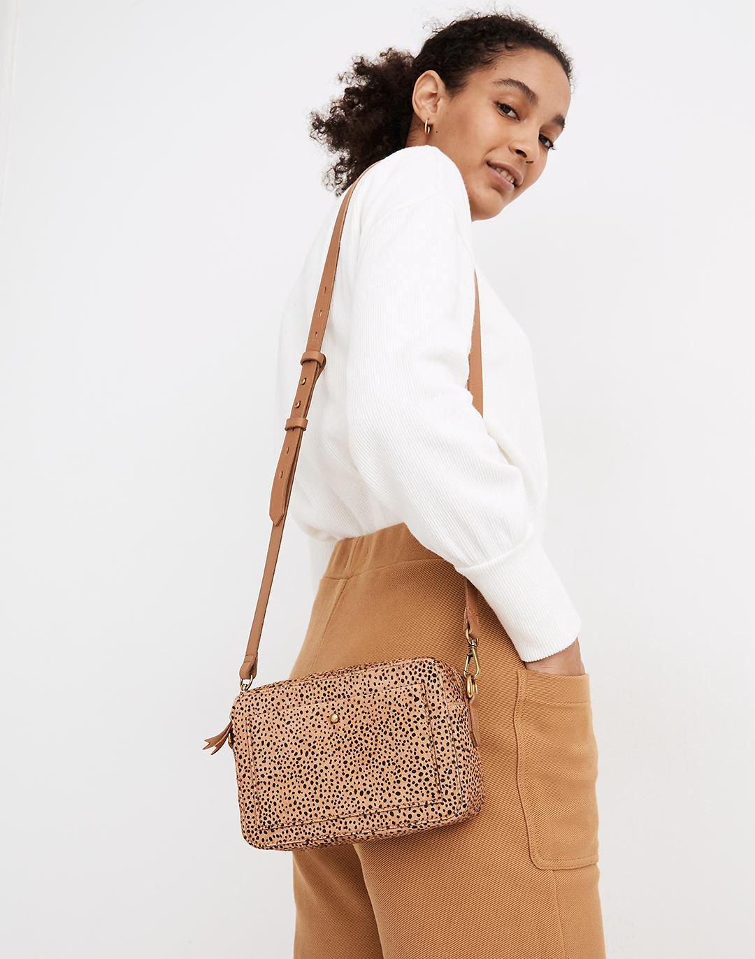 The Transport Camera Bag in Dotted Calf Hair 2