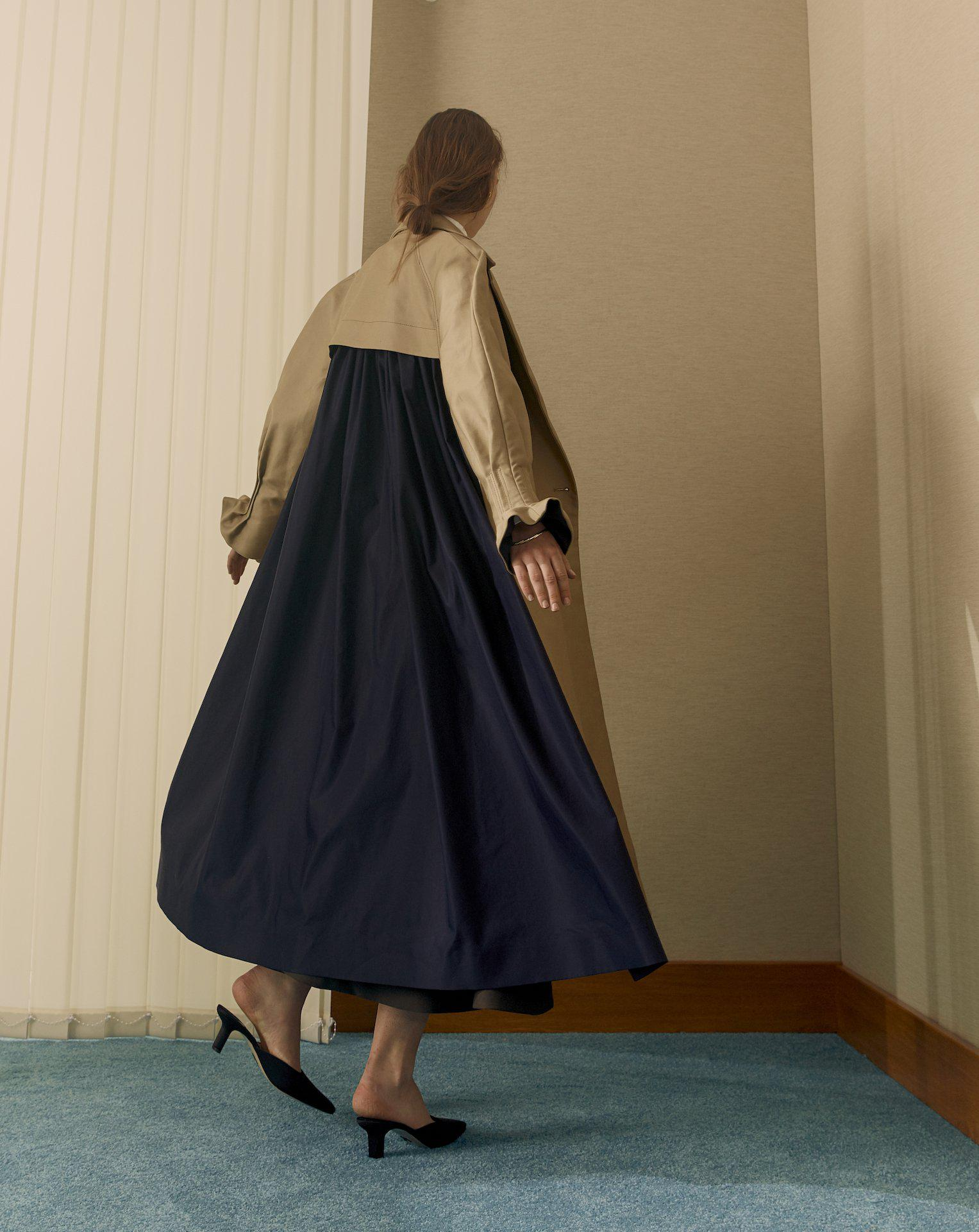 Trench Coat With Pleat Back (Trench)
