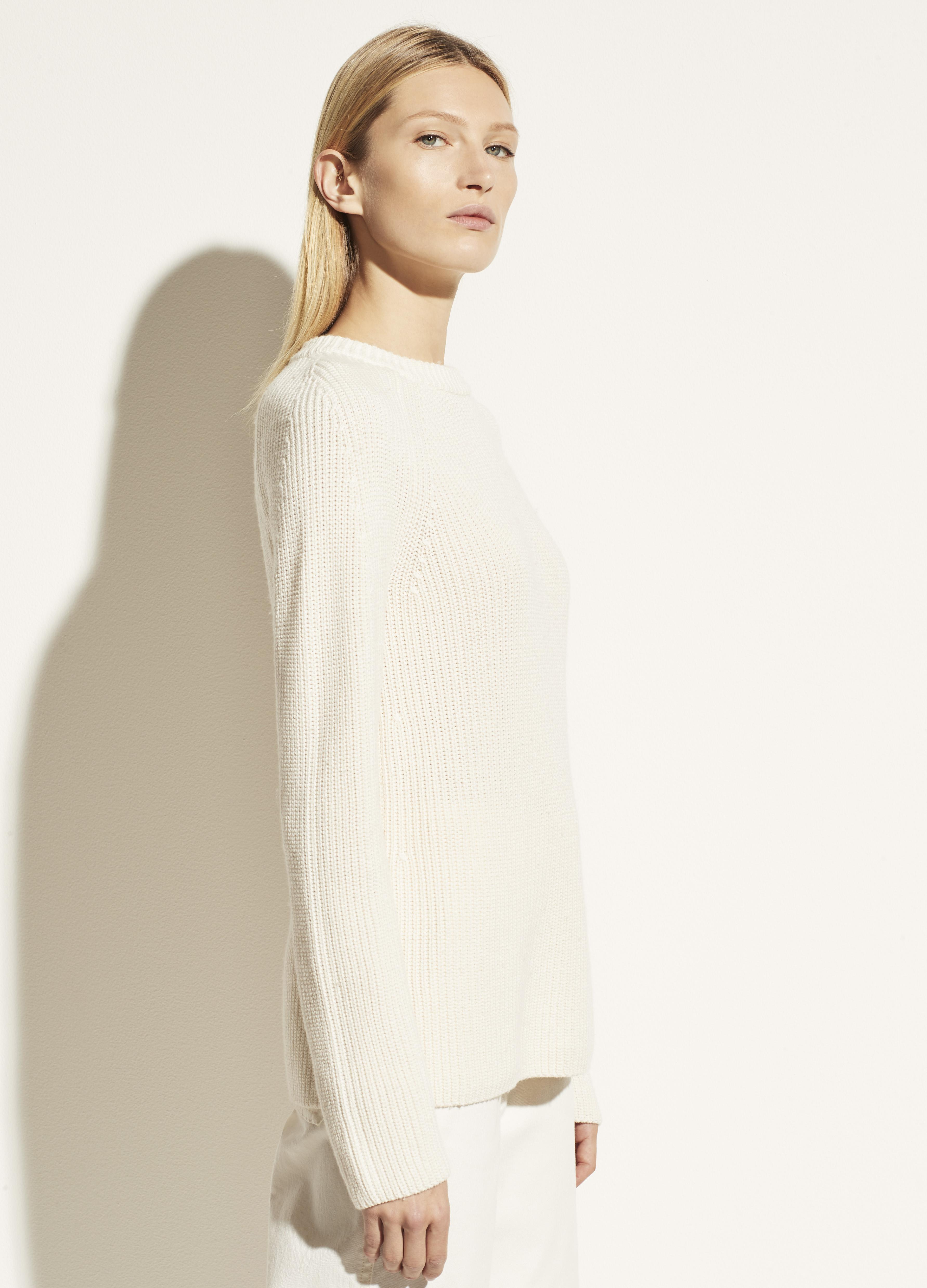 Ribbed Cotton Cashmere Crew 1