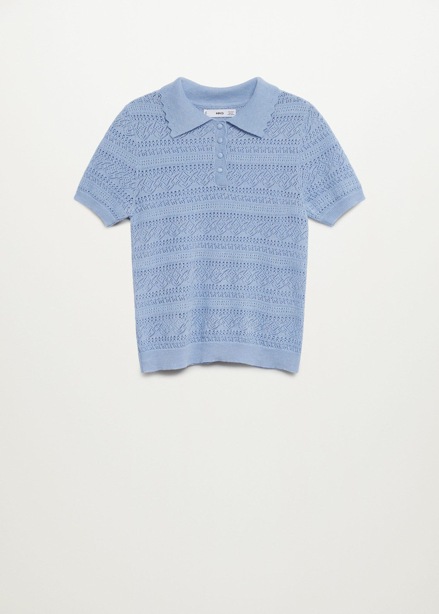 Openwork knit polo 5