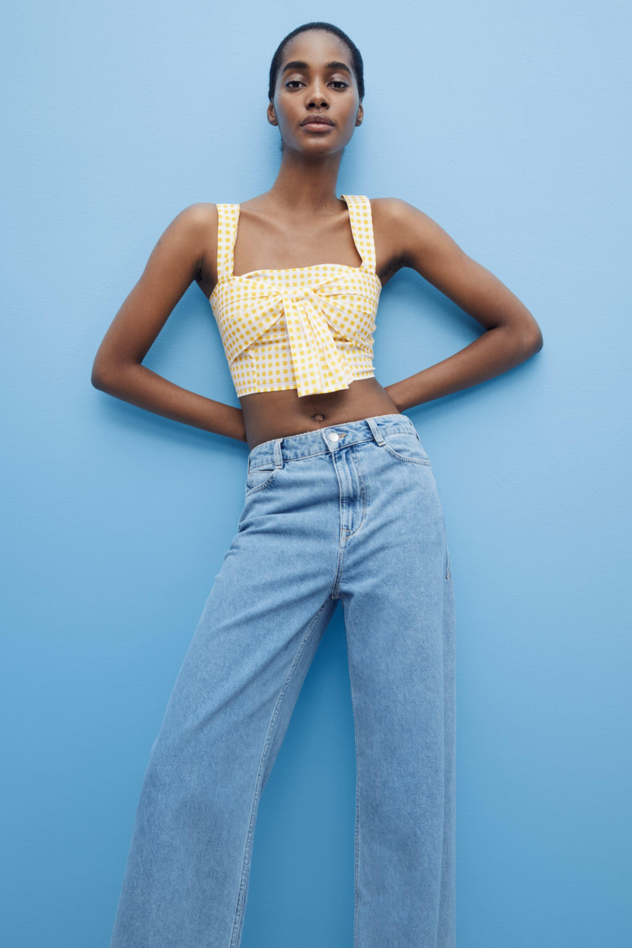 CROPPED GINGHAM TOP 1
