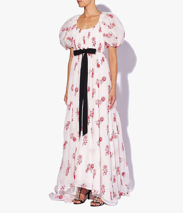 Clarimond Gown Floral Embroidered Cotton Voile
