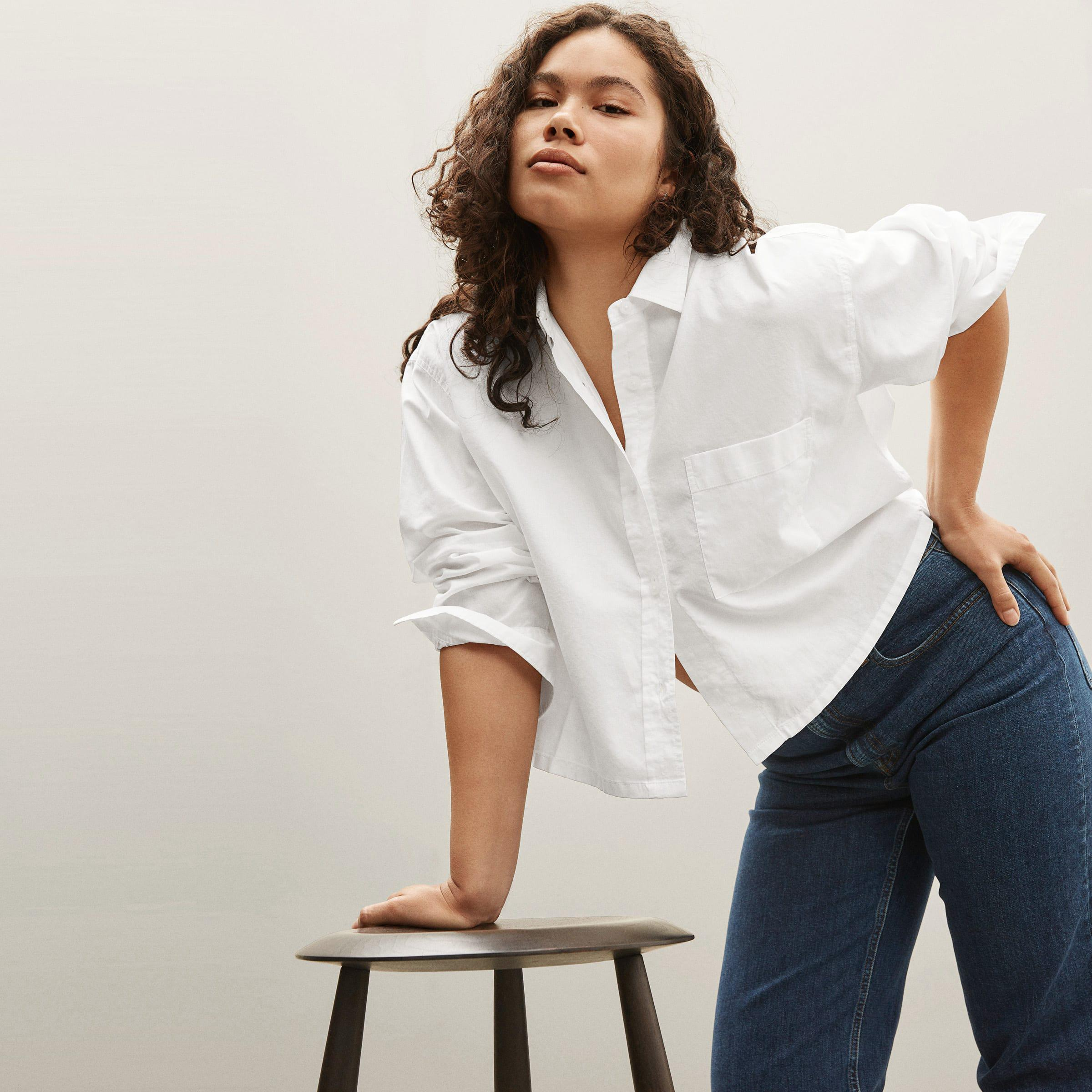 The Silky Cotton Cropped Shirt