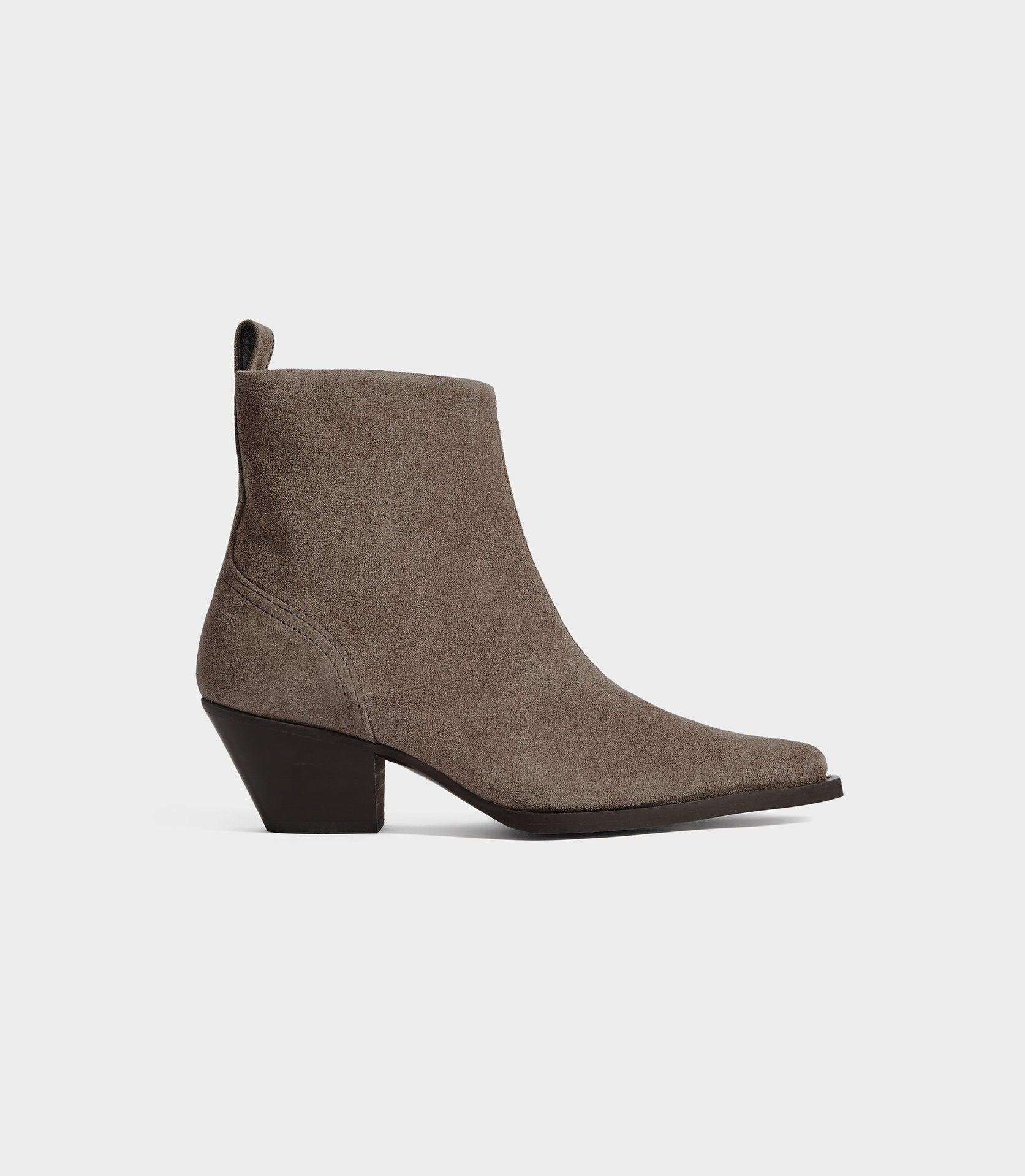 HAYWORTH SUEDE - SUEDE WESTERN ANKLE BOOTS