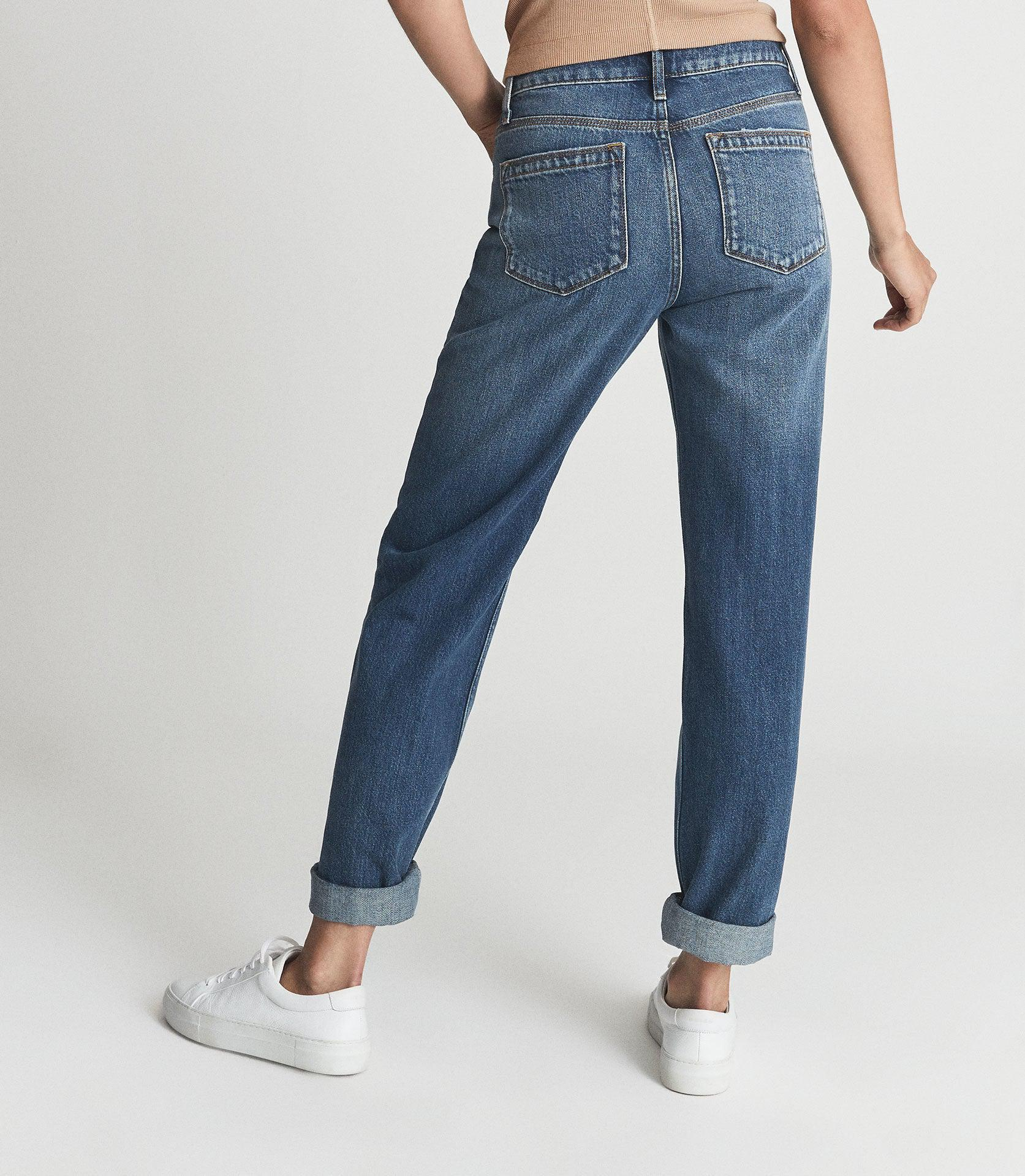 ADELE - MID RISE RELAXED WIDE LEG JEANS 2