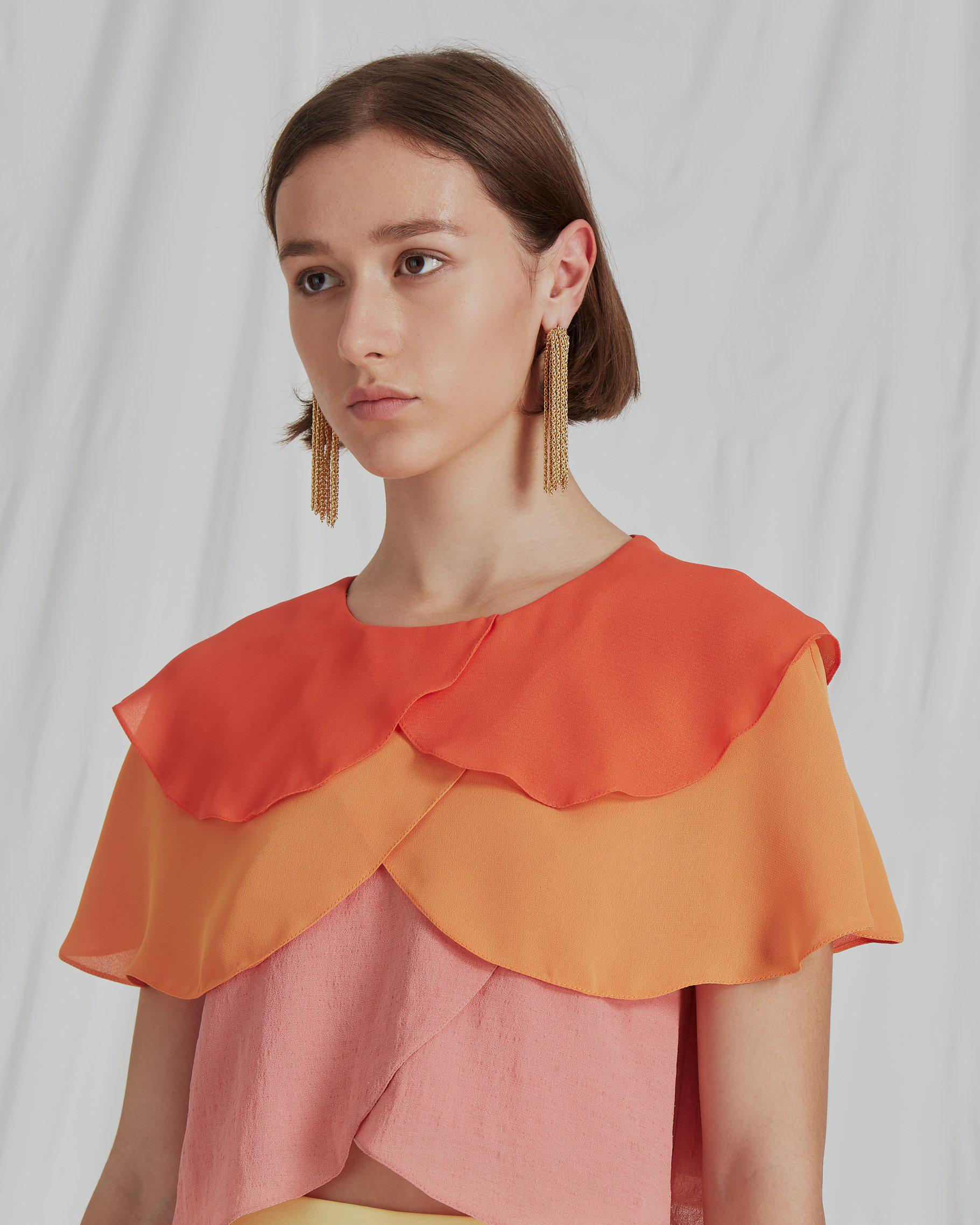 Jude Blouse Crepe Ombre Mix - SPECIAL PRICE 1
