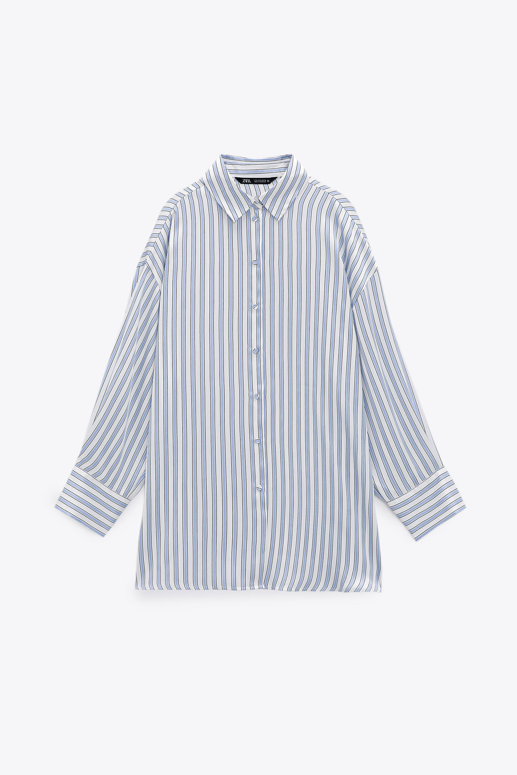 FLOWY LINED BUTTON SHIRT