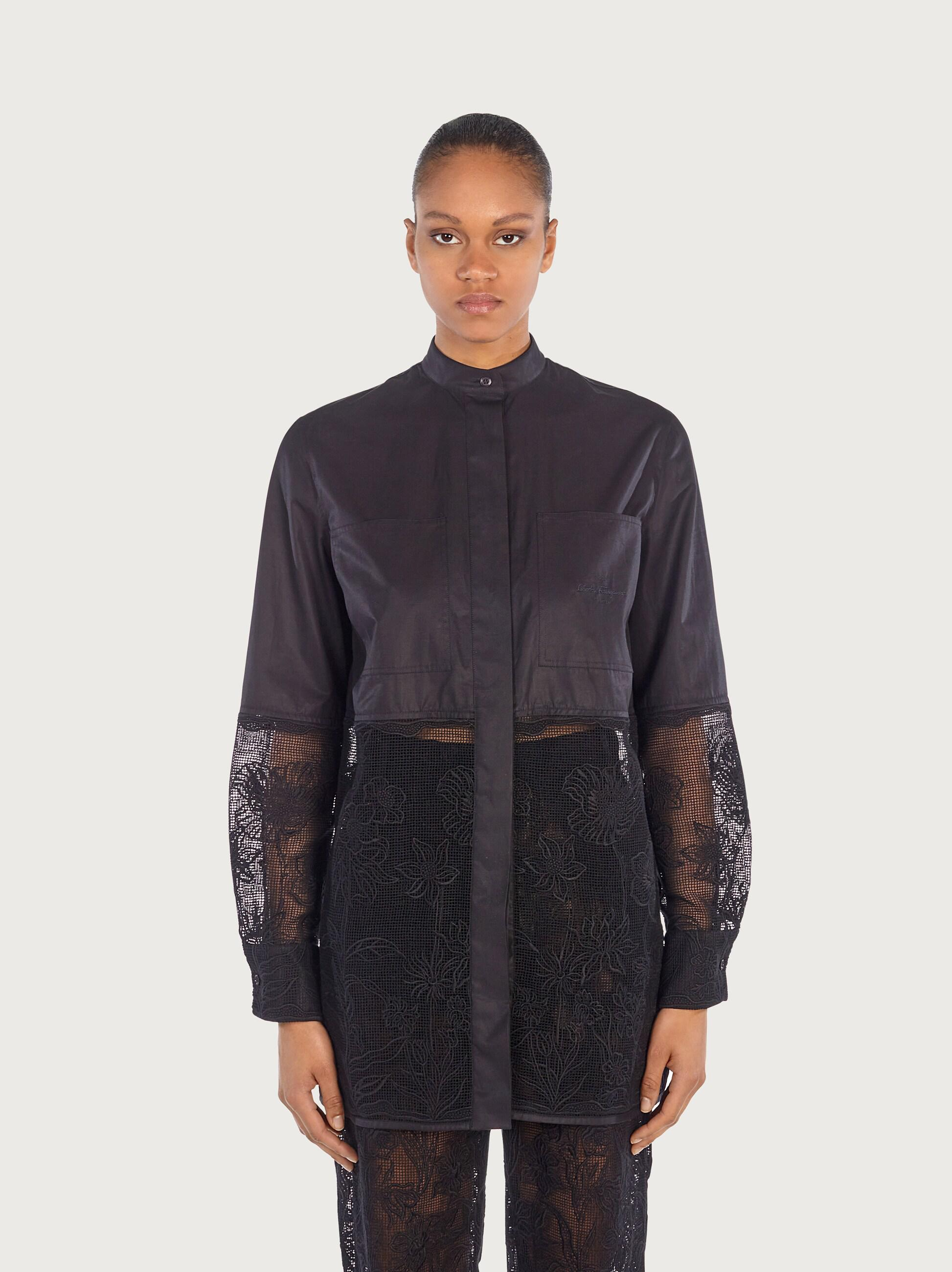 LONG SHIRT WITH CORDONETTO LACE