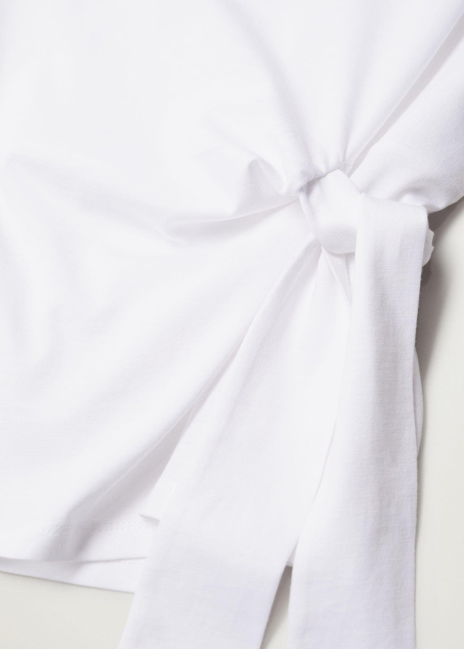 Recycled cotton t-shirt with knot 6