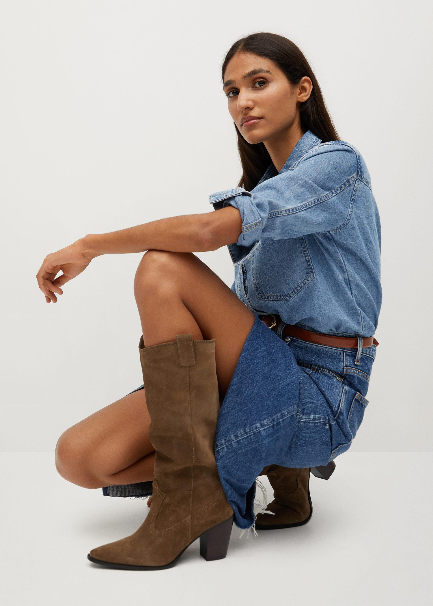 Leather boots with tall leg 6