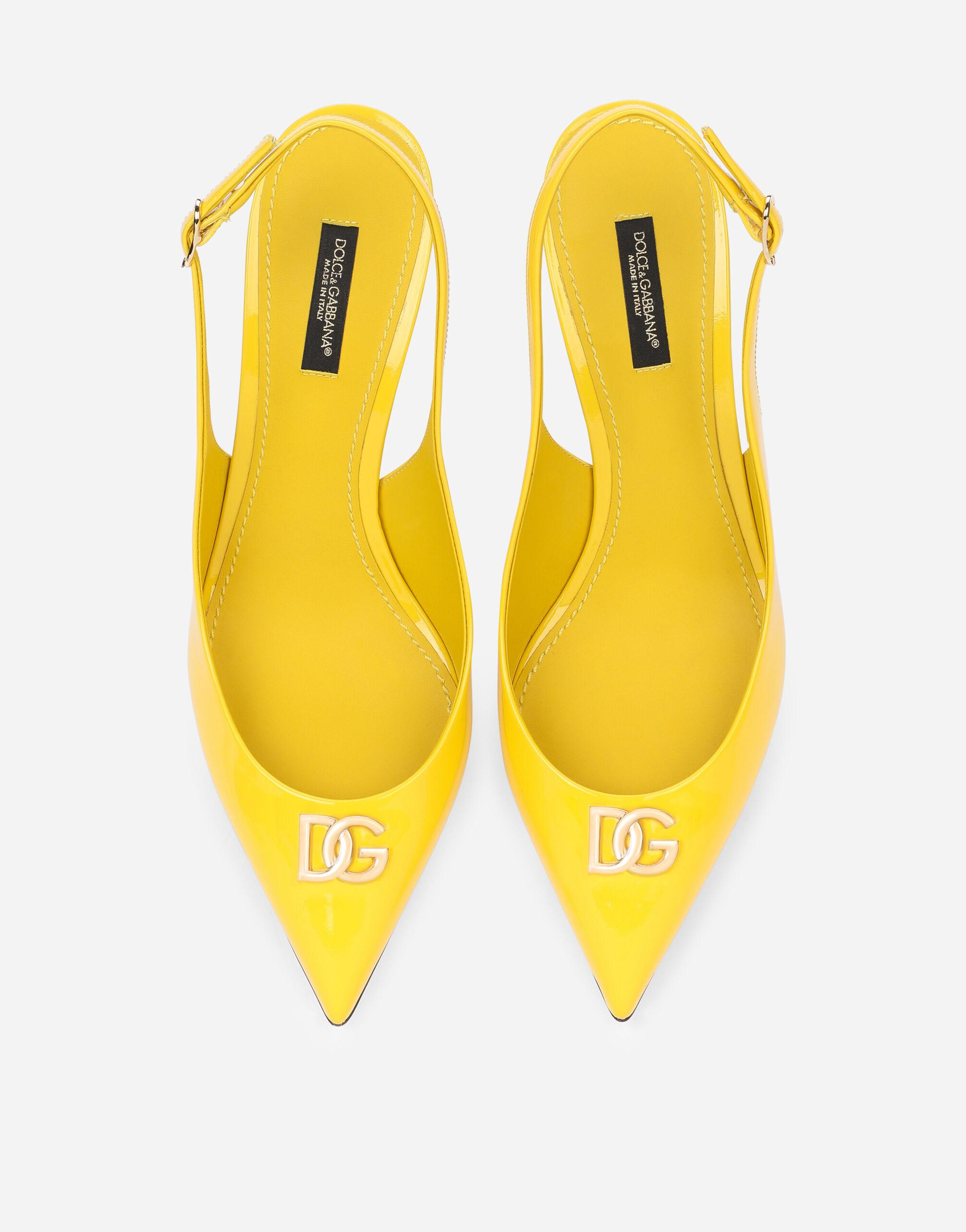 Patent leather slingbacks with DG logo 3