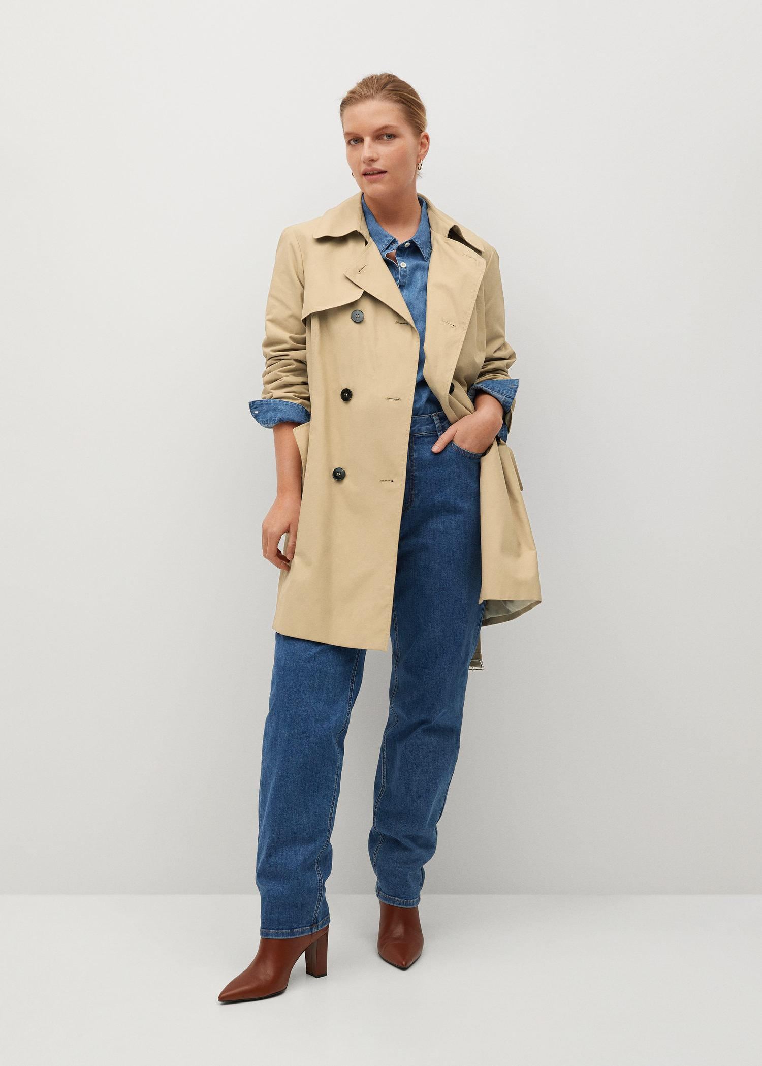 Classic belted trench