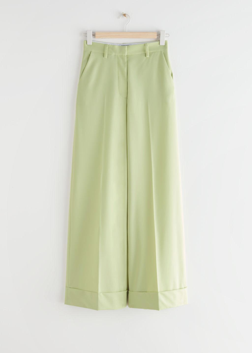 Wide Press Crease Trousers