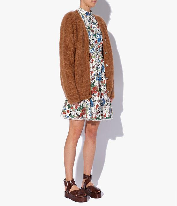 Marcilly Cardigan Mohair Knit Camel