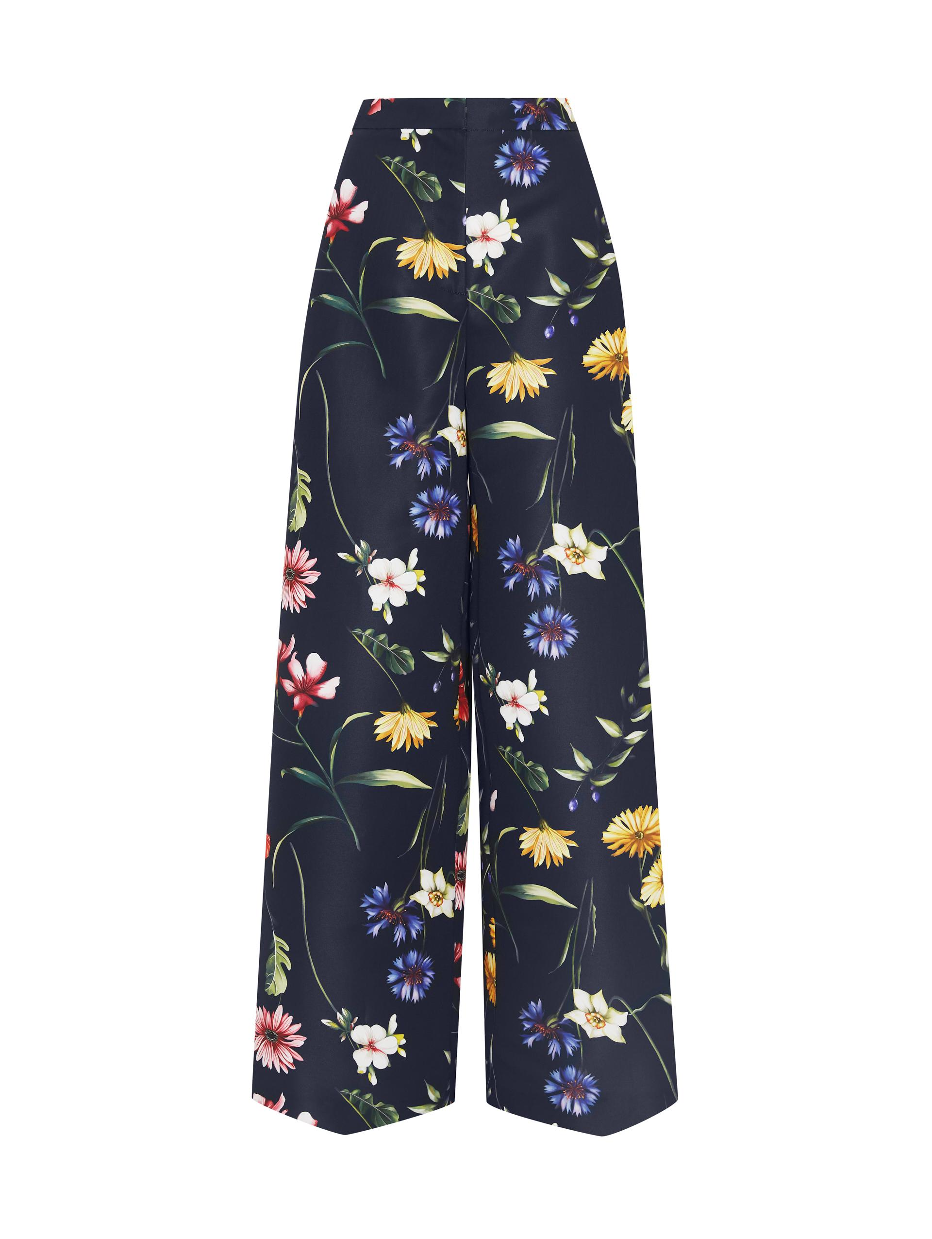 NAVY FIORE WIDE LEG PANT 3