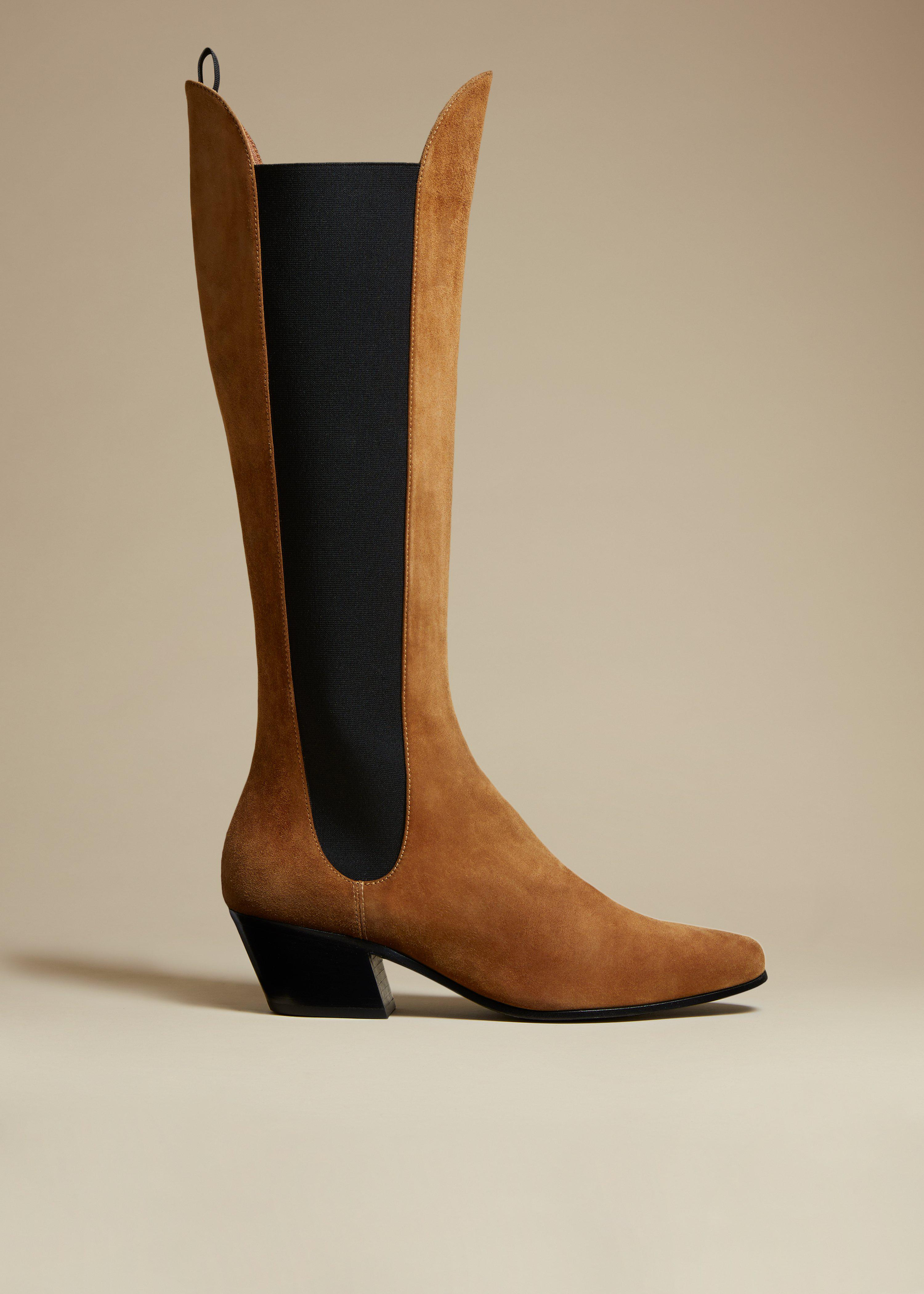 The Chester Boot in Caramel Suede