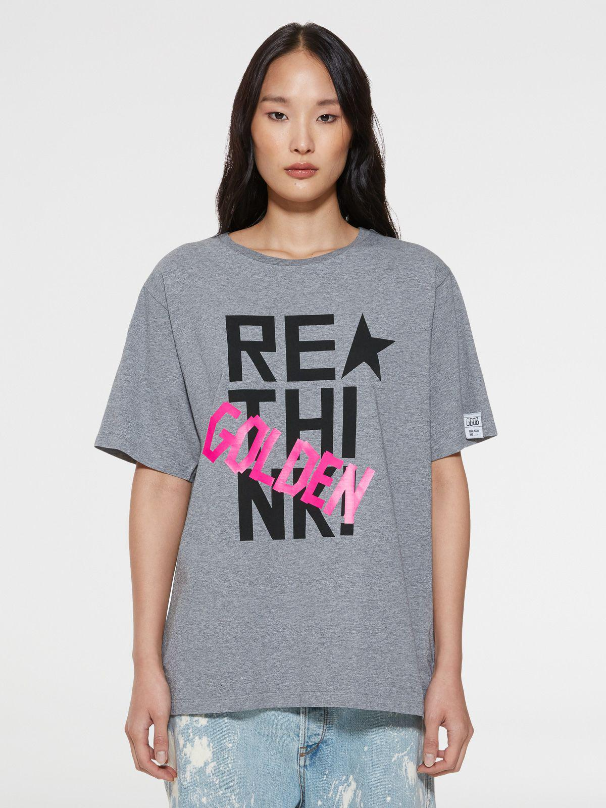 Grey Aira T-shirt with contrasting print
