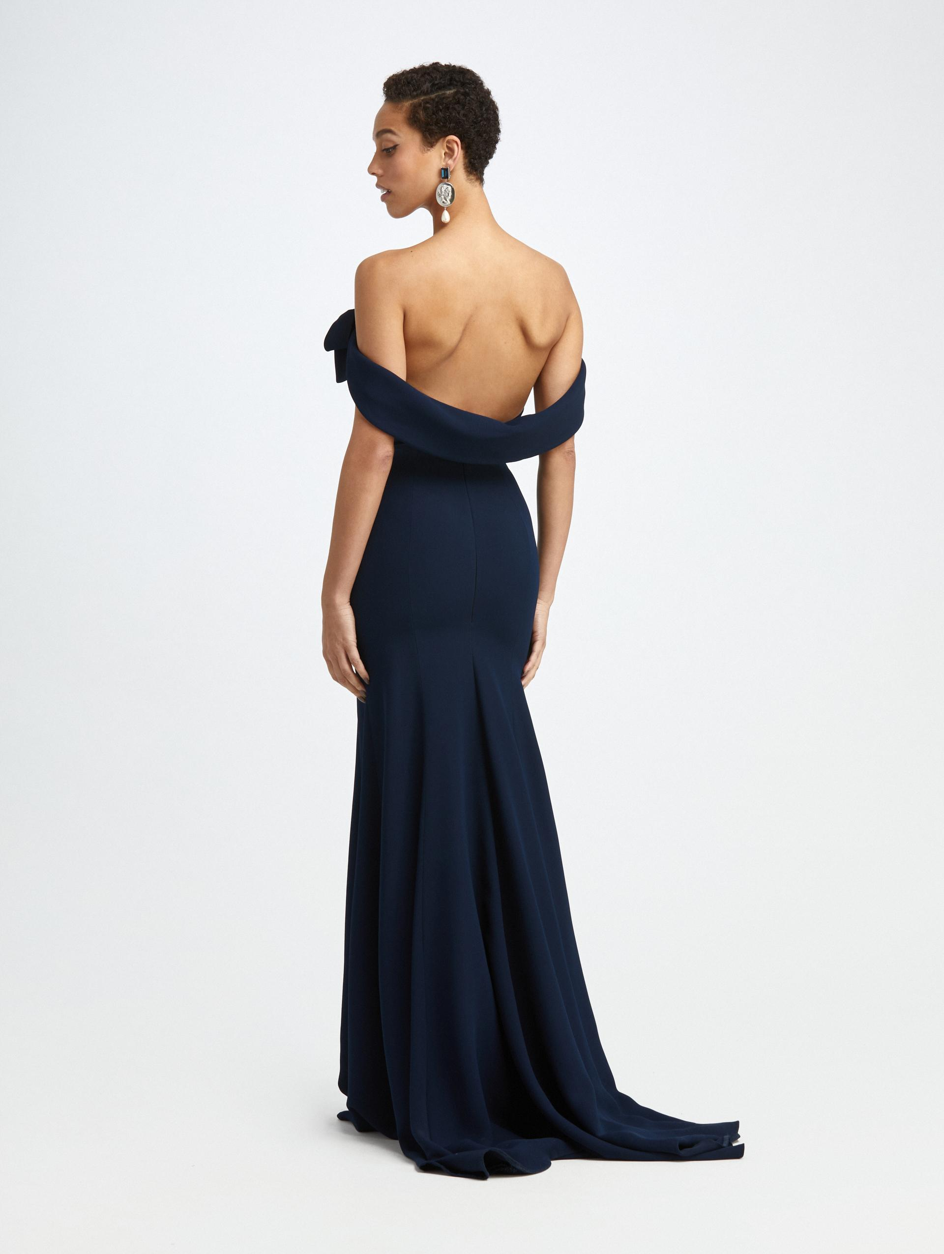 CADY OFF SHOULDER BOW GOWN 1