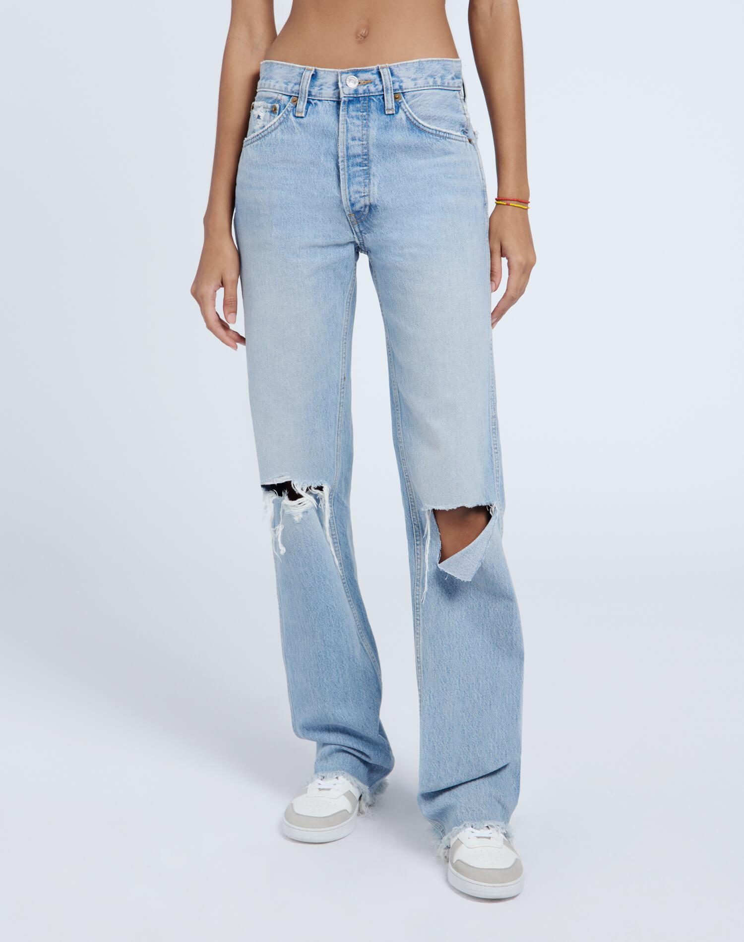 High Rise Loose - Breezy Indigo with Rips