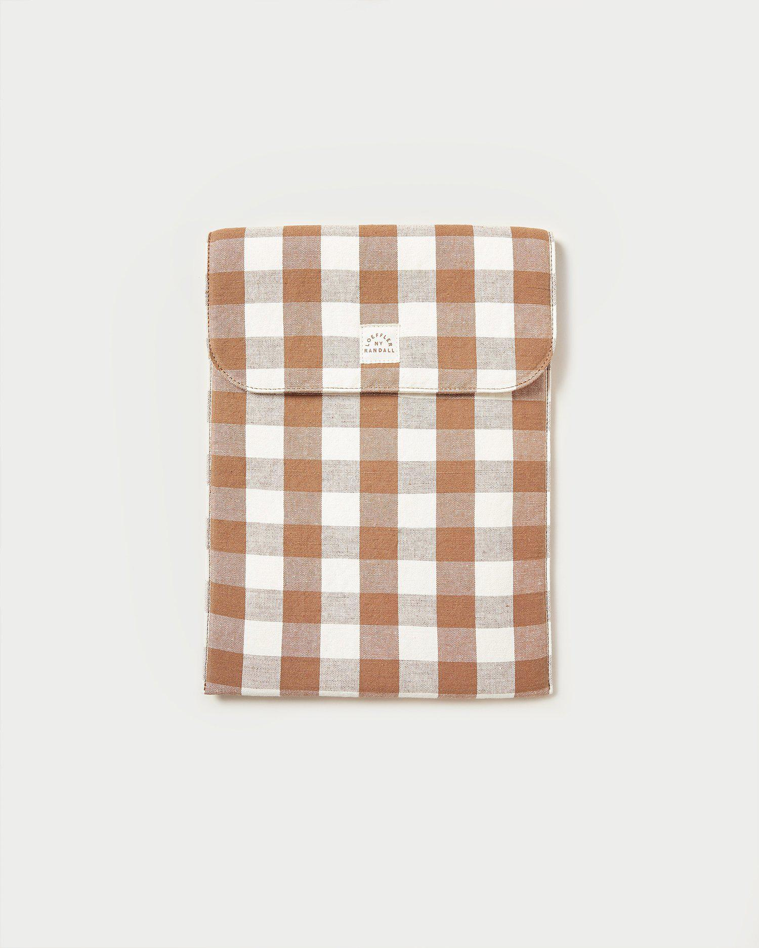 Mary Brown Gingham Laptop Case