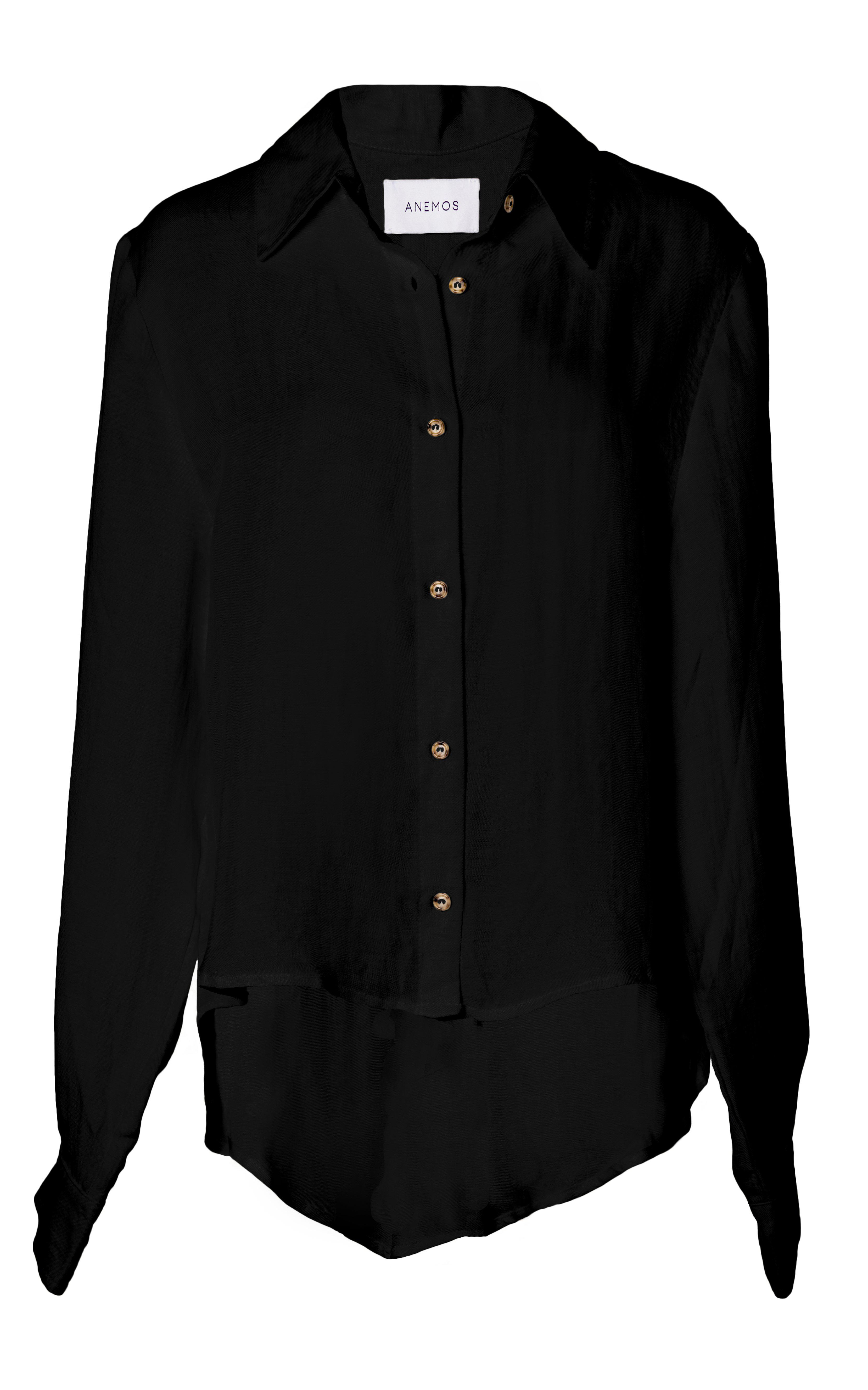 The Phillips Long Sleeve Button-Down Shirt in Linen Cupro