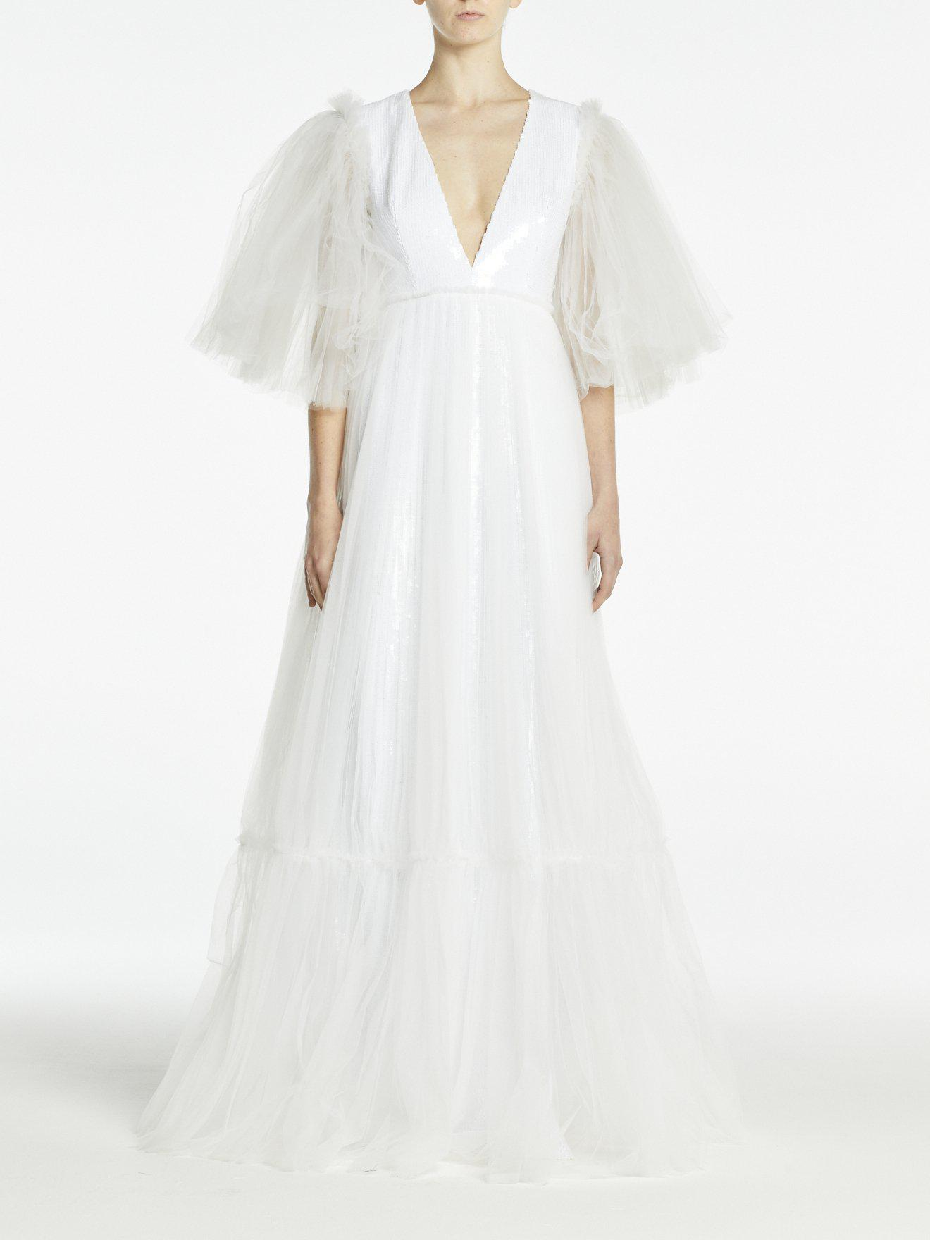 JUNO GOWN WHITE SEQUINS/TULLE