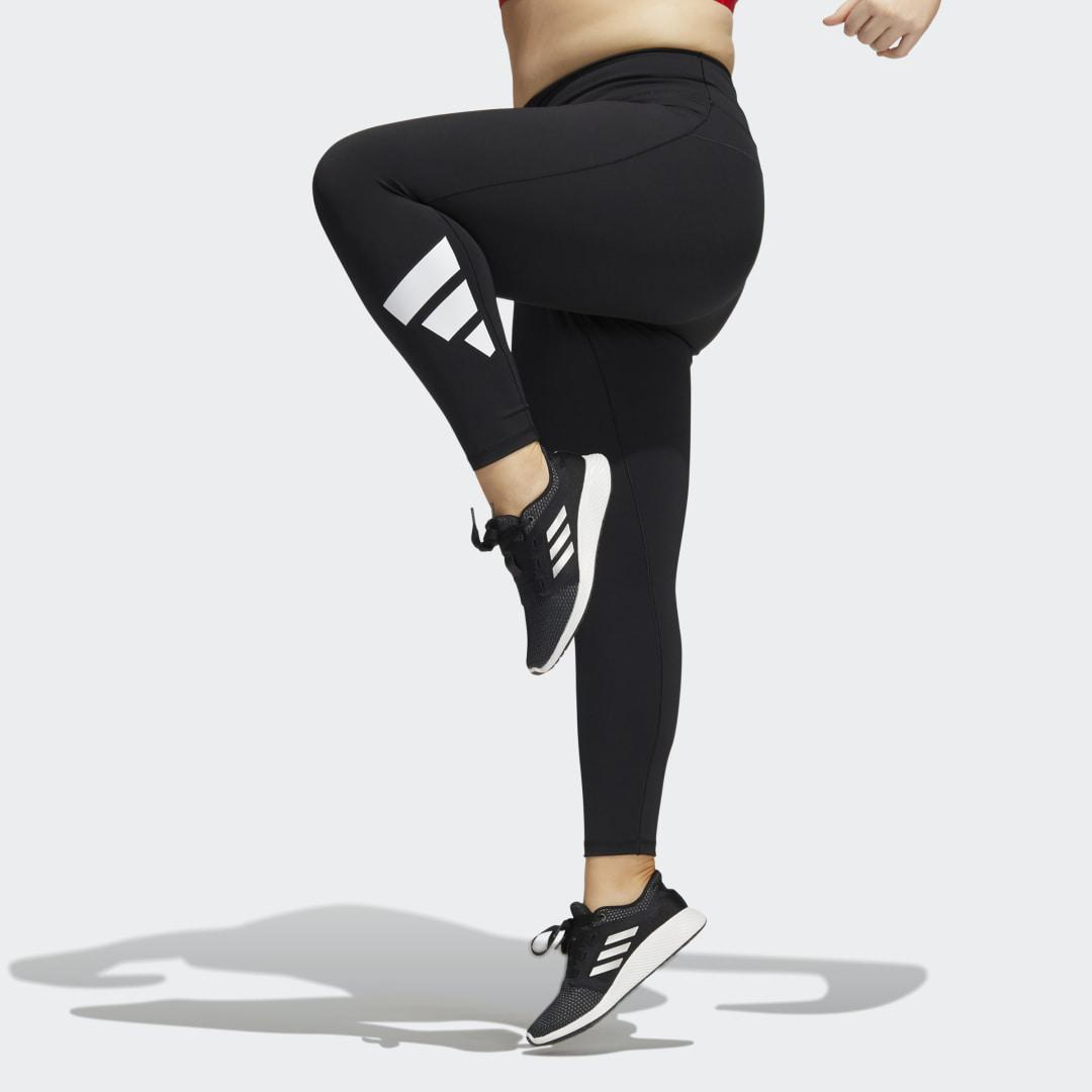 Believe This 2.0 3-Stripes 7/8 Tights (Plus Size) Black 1X - Womens Training Pants