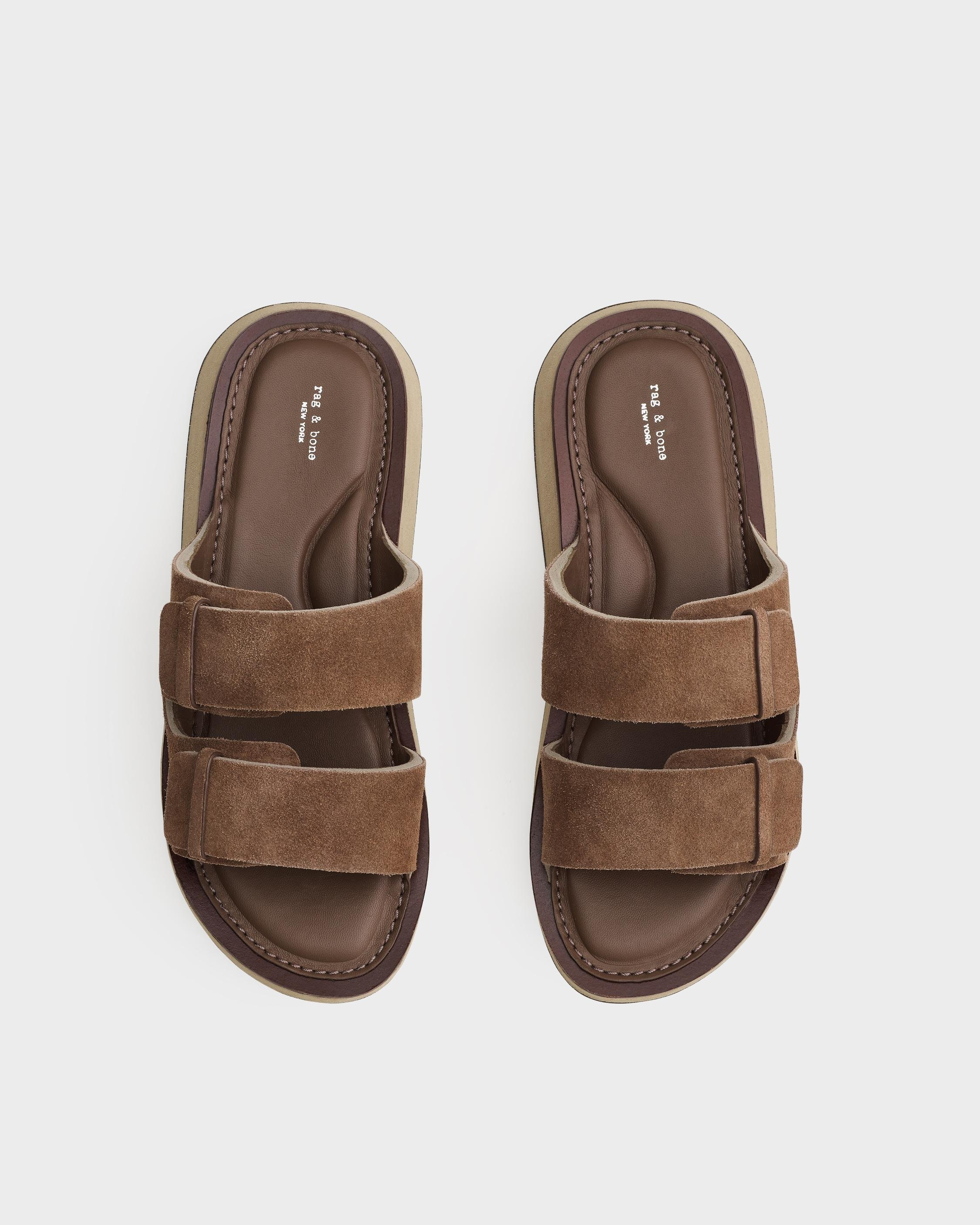Parker slide - suede and sheep nappa 2