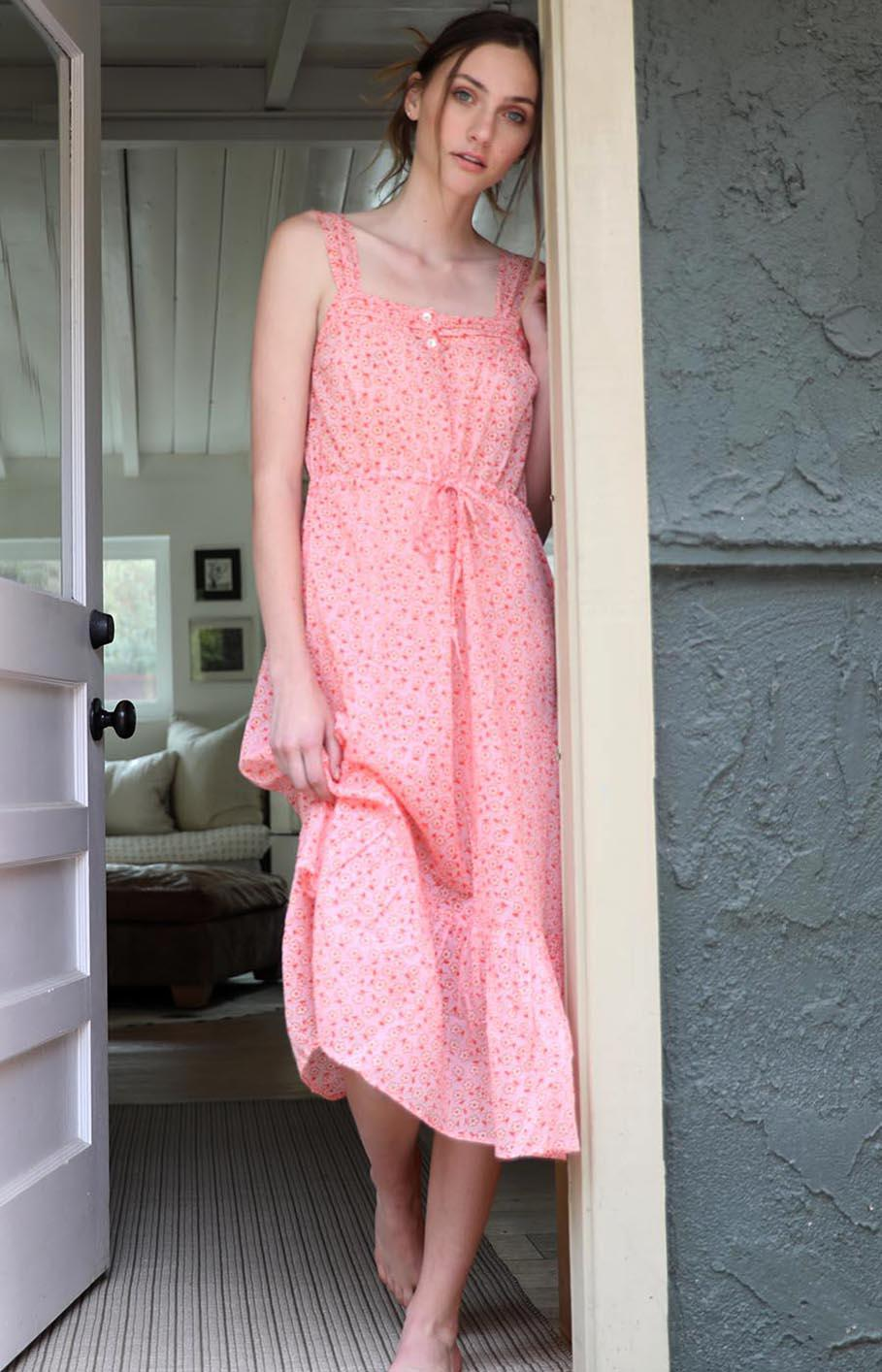 Rosalind Gown Scattered Daisy Orchid Pink 2