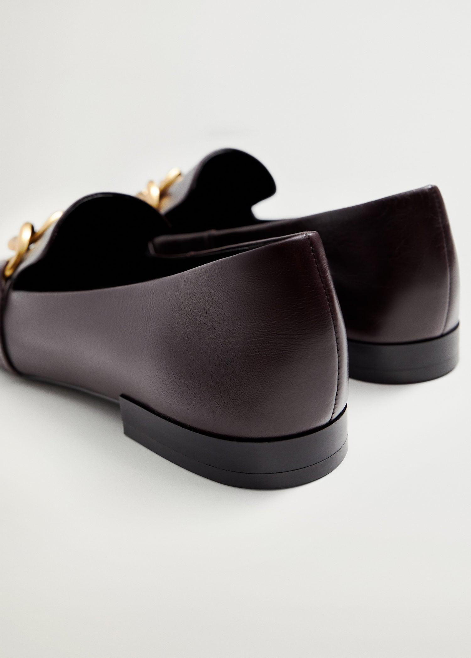 Leather loafers with chain 2