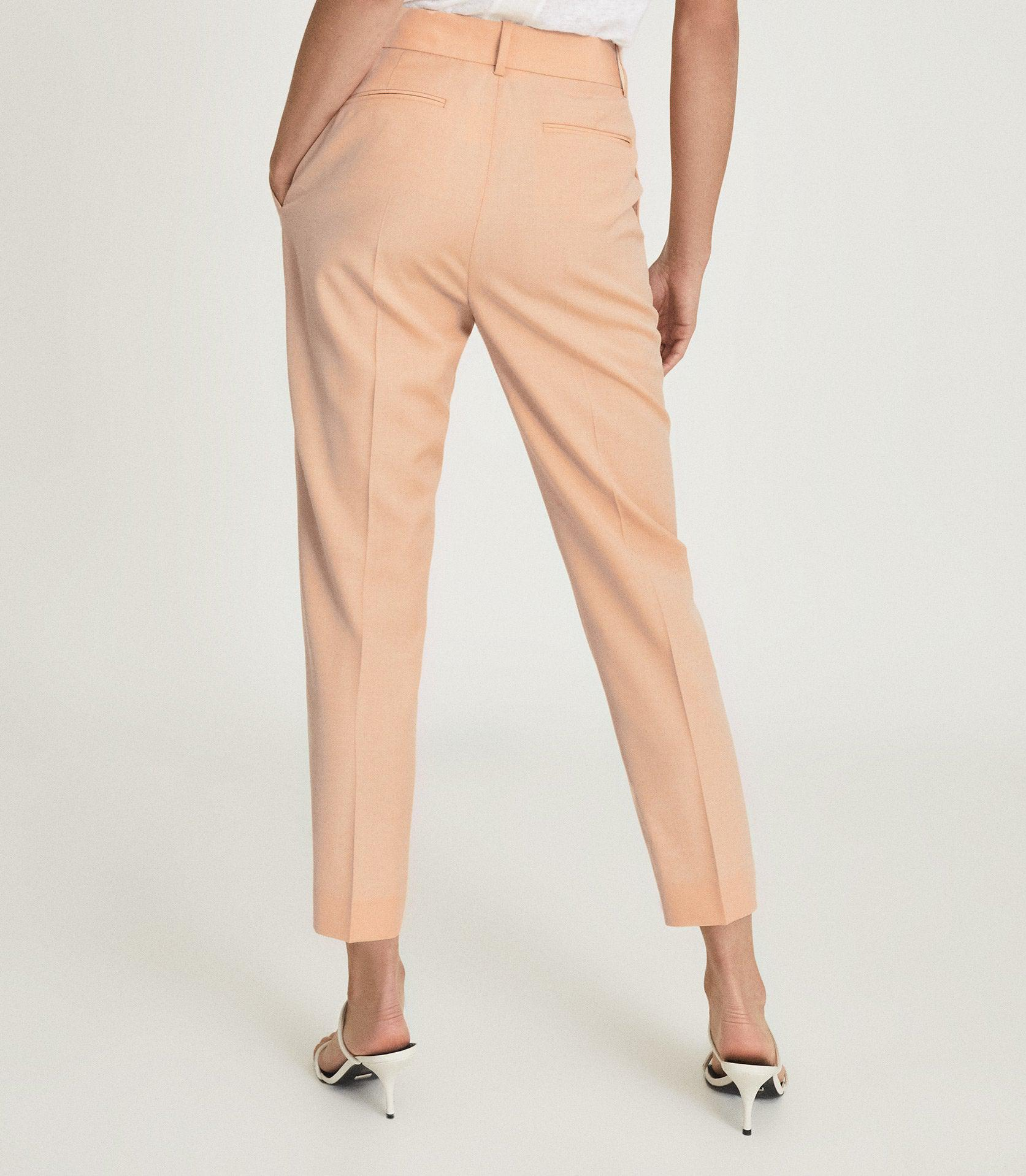 EVELYN - WOOL LINEN BLEND SLIM FIT TROUSERS 4
